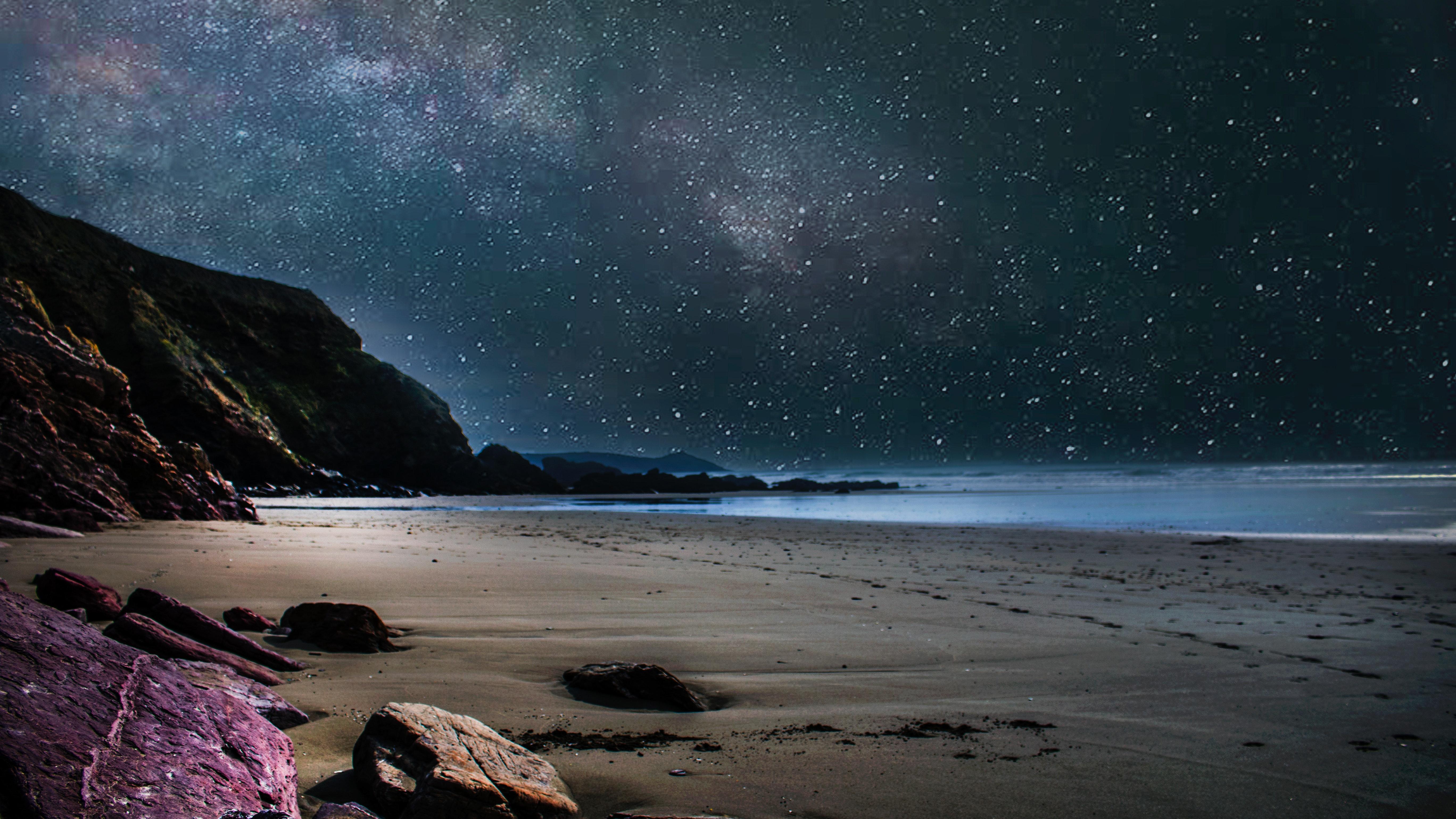 Free Images Sky Nature Sea Night Coast Shore Atmosphere Light Star Rock Ocean Water Astronomical Object Cloud Wave Beach Space Horizon Coastal And Oceanic Landforms Tide Landscape Terrain Headland Milky Way