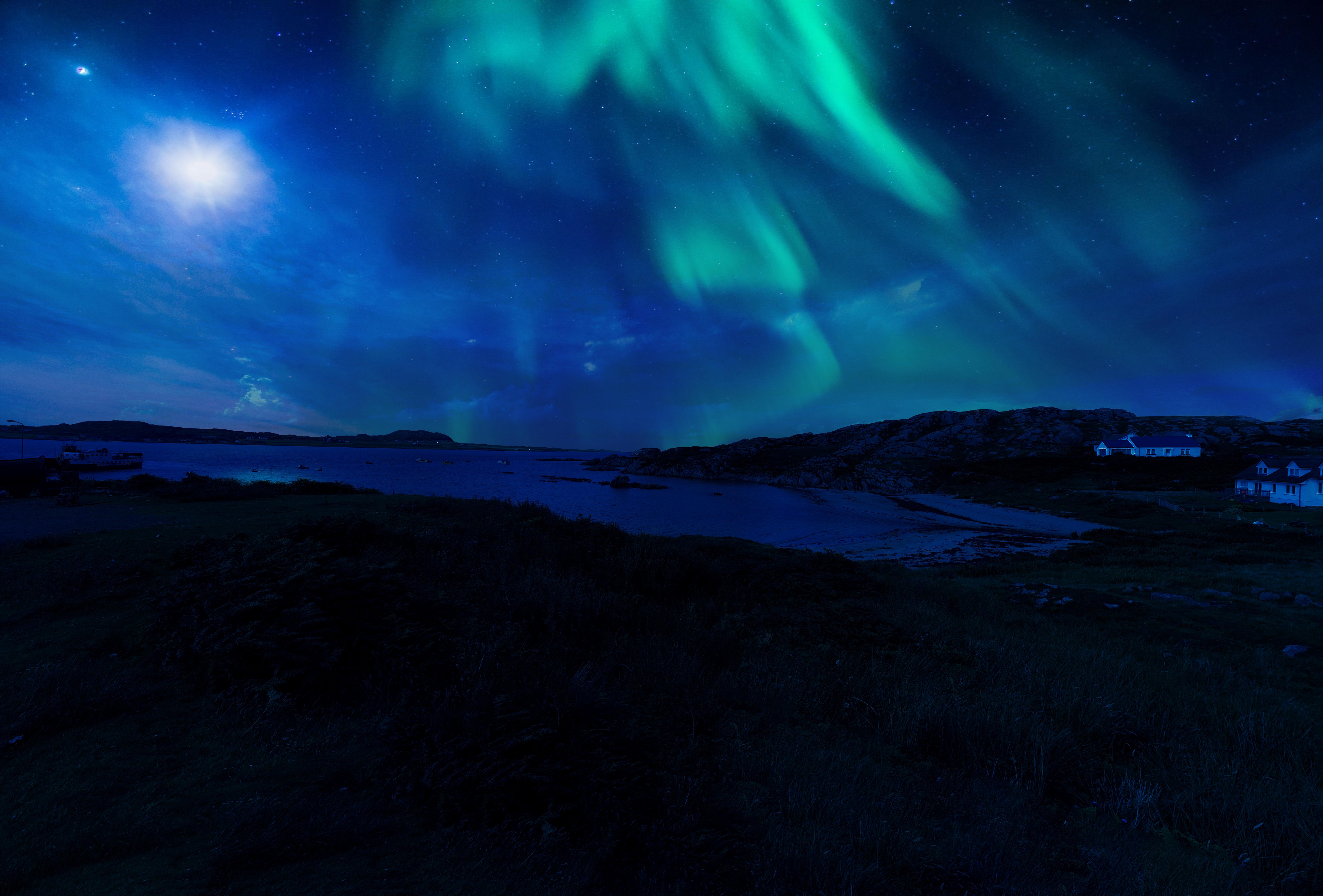 Free Images : sky, night, atmosphere, darkness, aurora