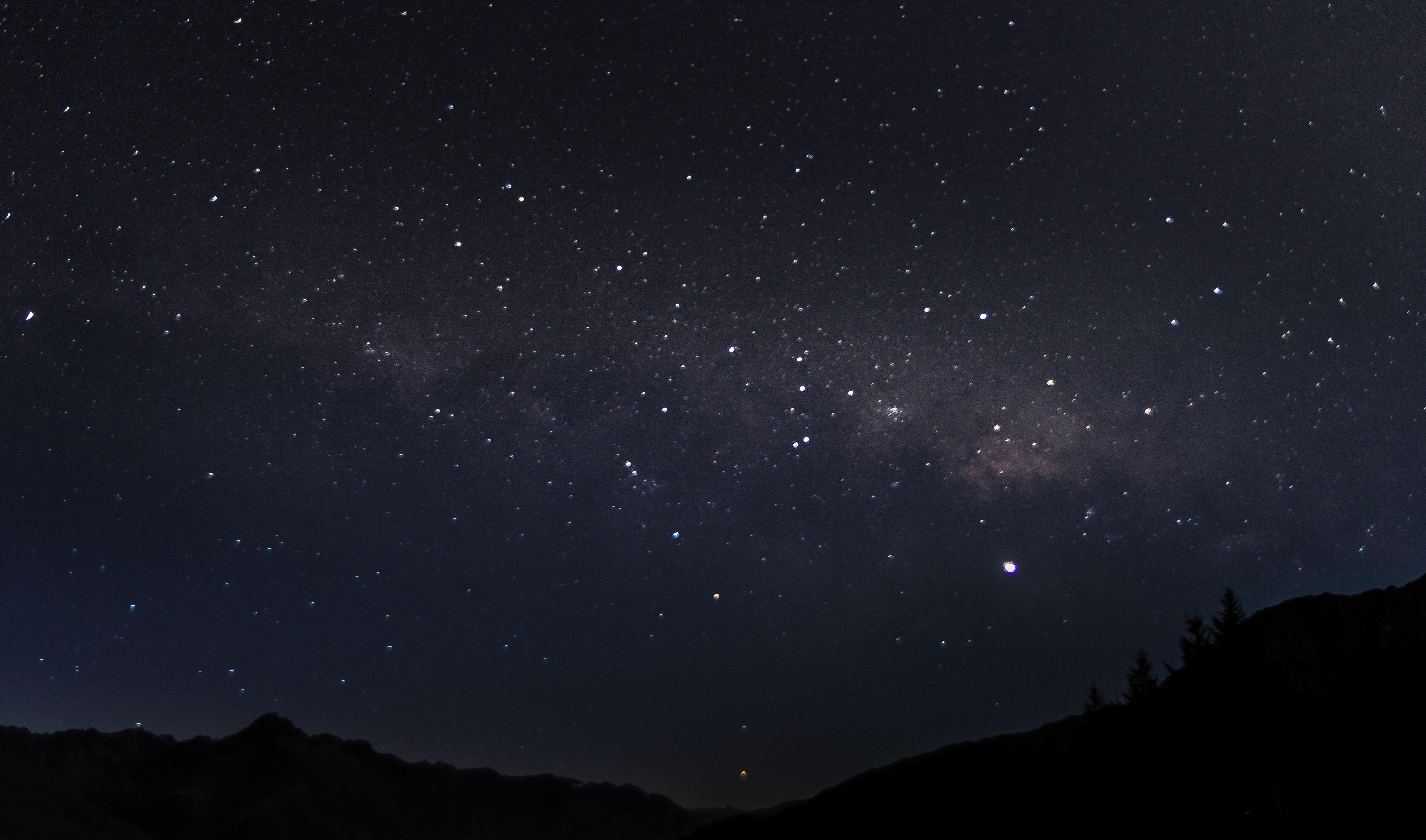Fotos gratis : cielo, noche, estrella, Vía láctea ...