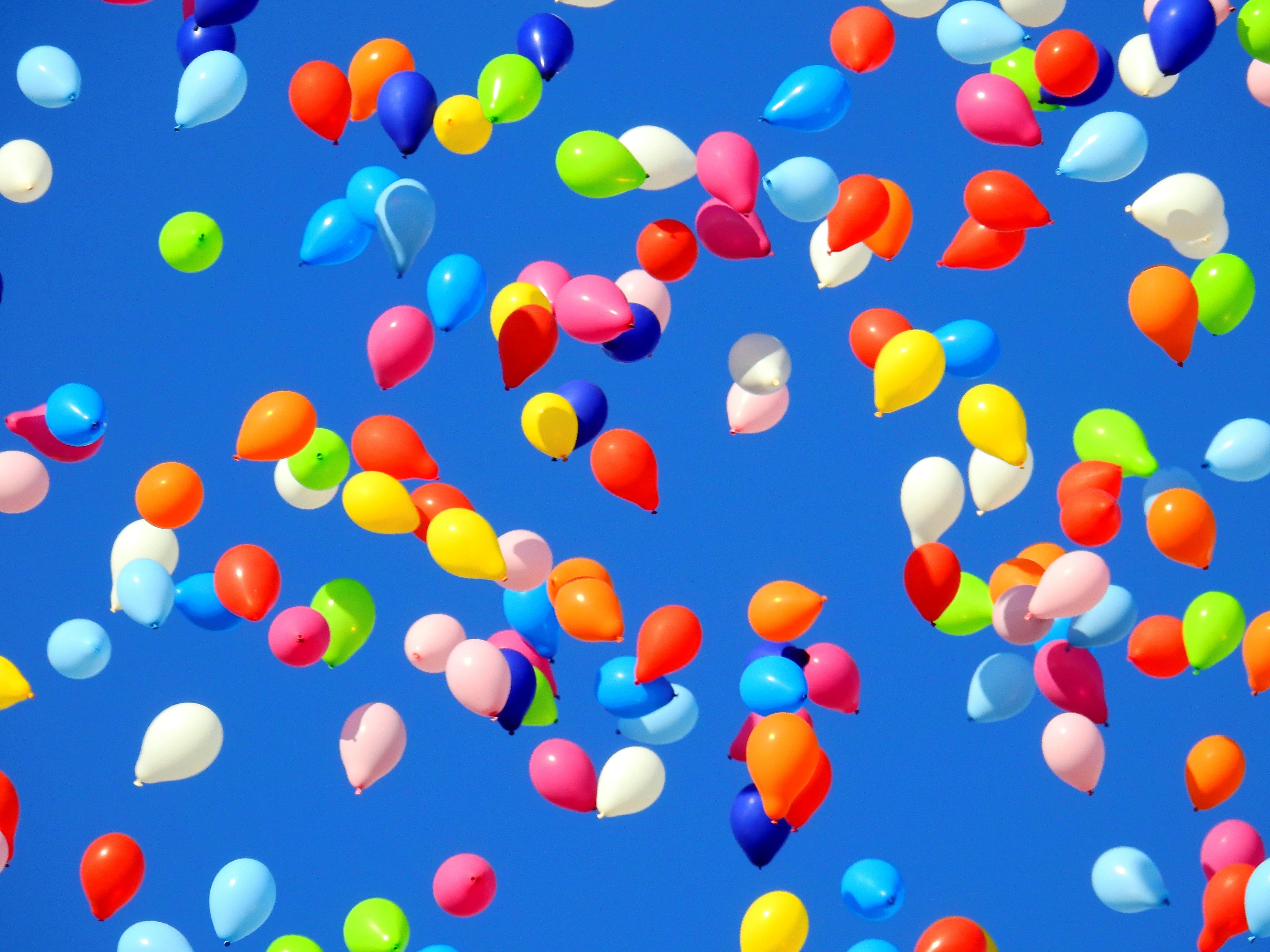 Gratis Afbeeldingen Hemel Bloemblad Ballon Viering Eten