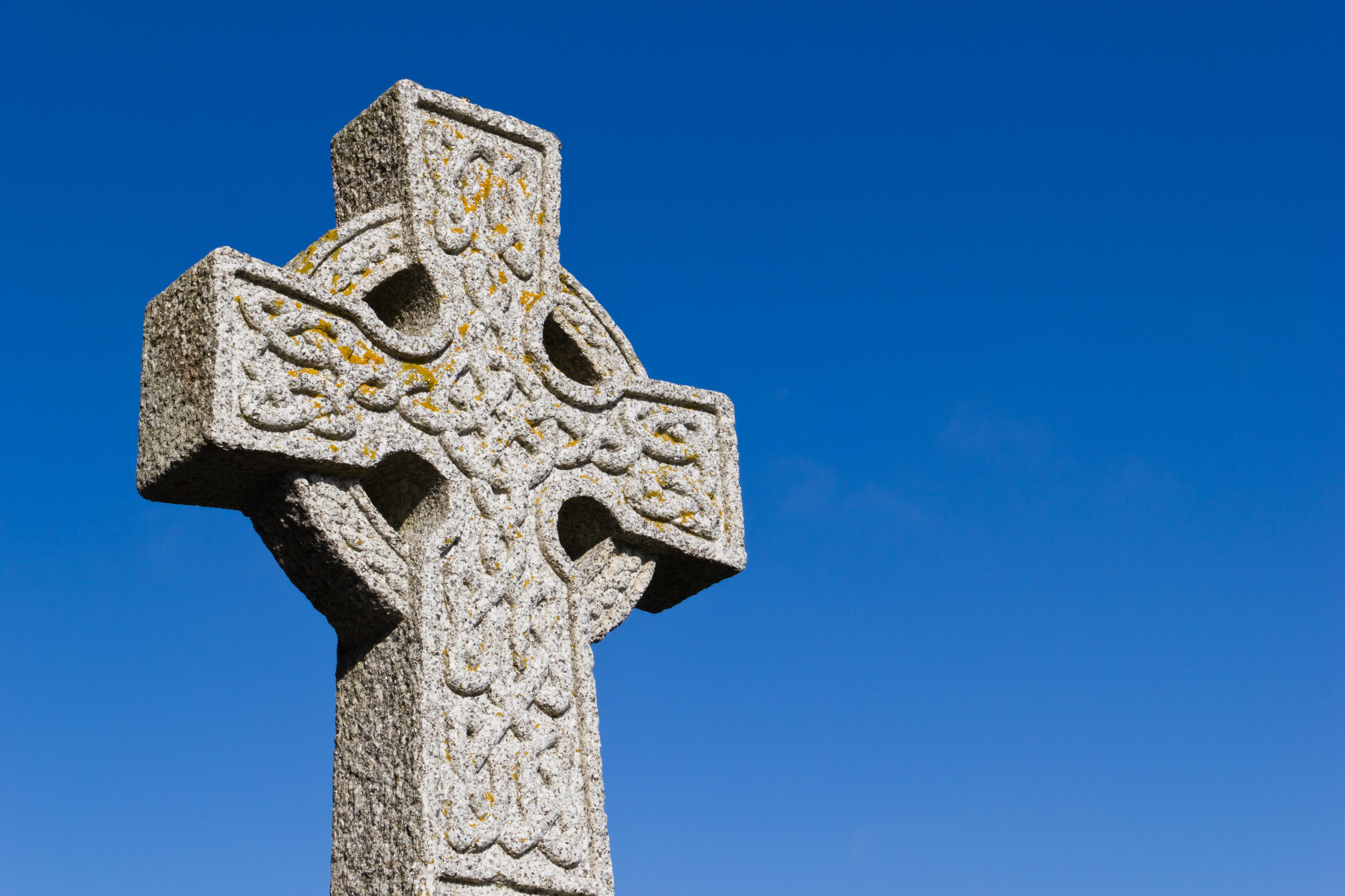 Sky Statue Symbol Religion Blue Cross Christianity Scotland Crucifix Celtic