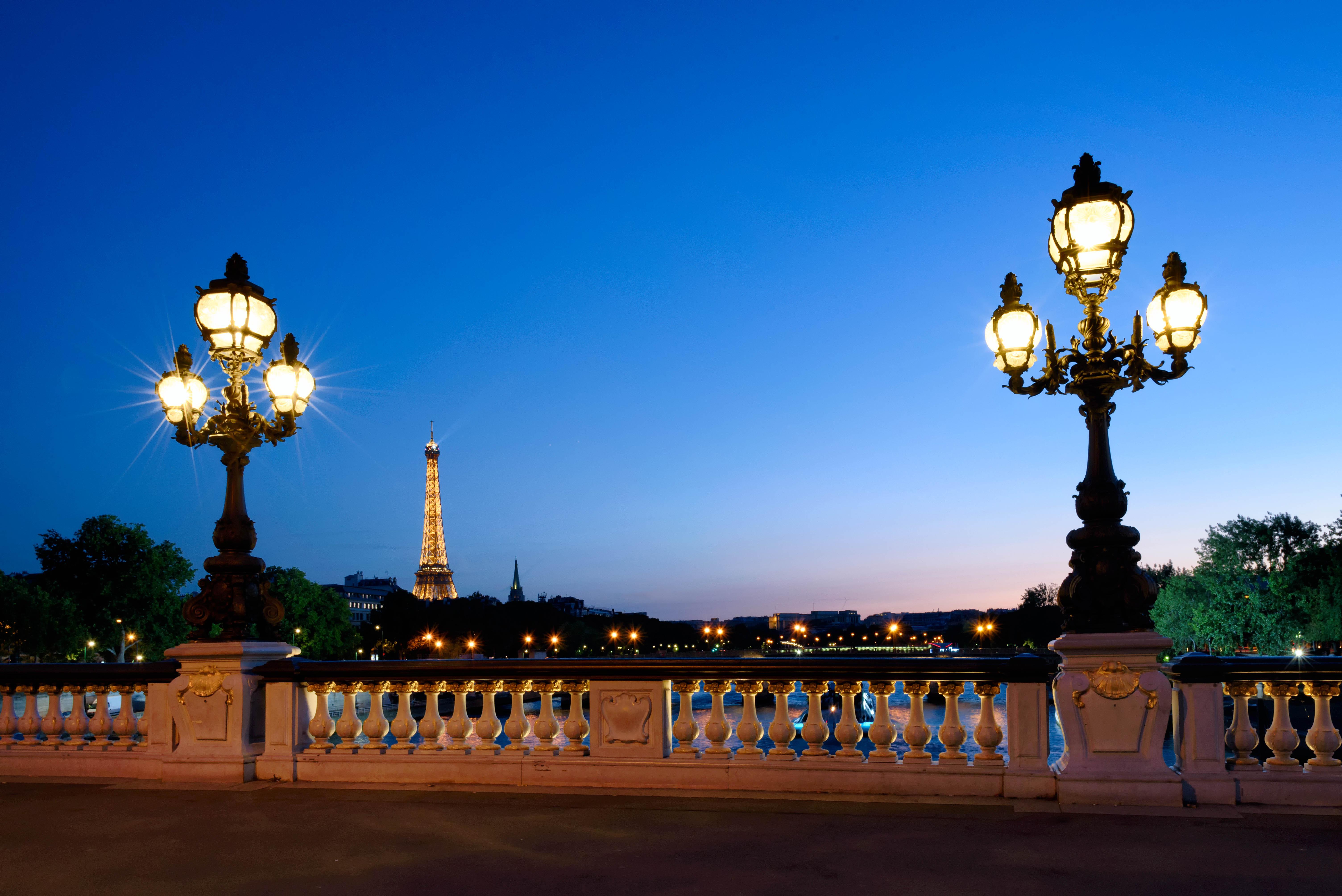 Free Images : sky, sunset, bridge, night, paris, dusk