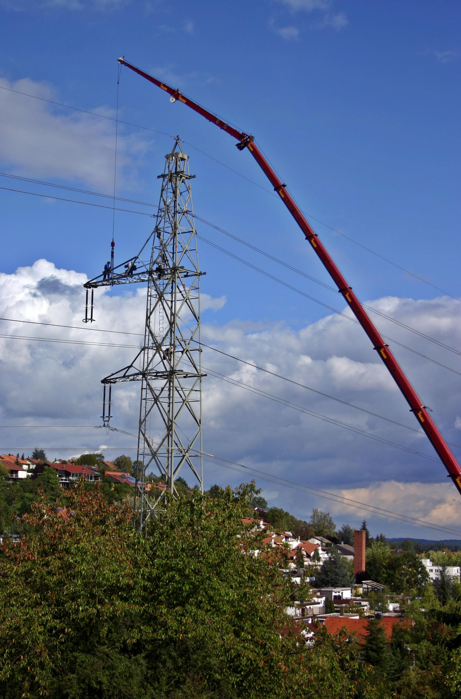 Free Images : sky, wind, village, repair, power line, mast, industry ...
