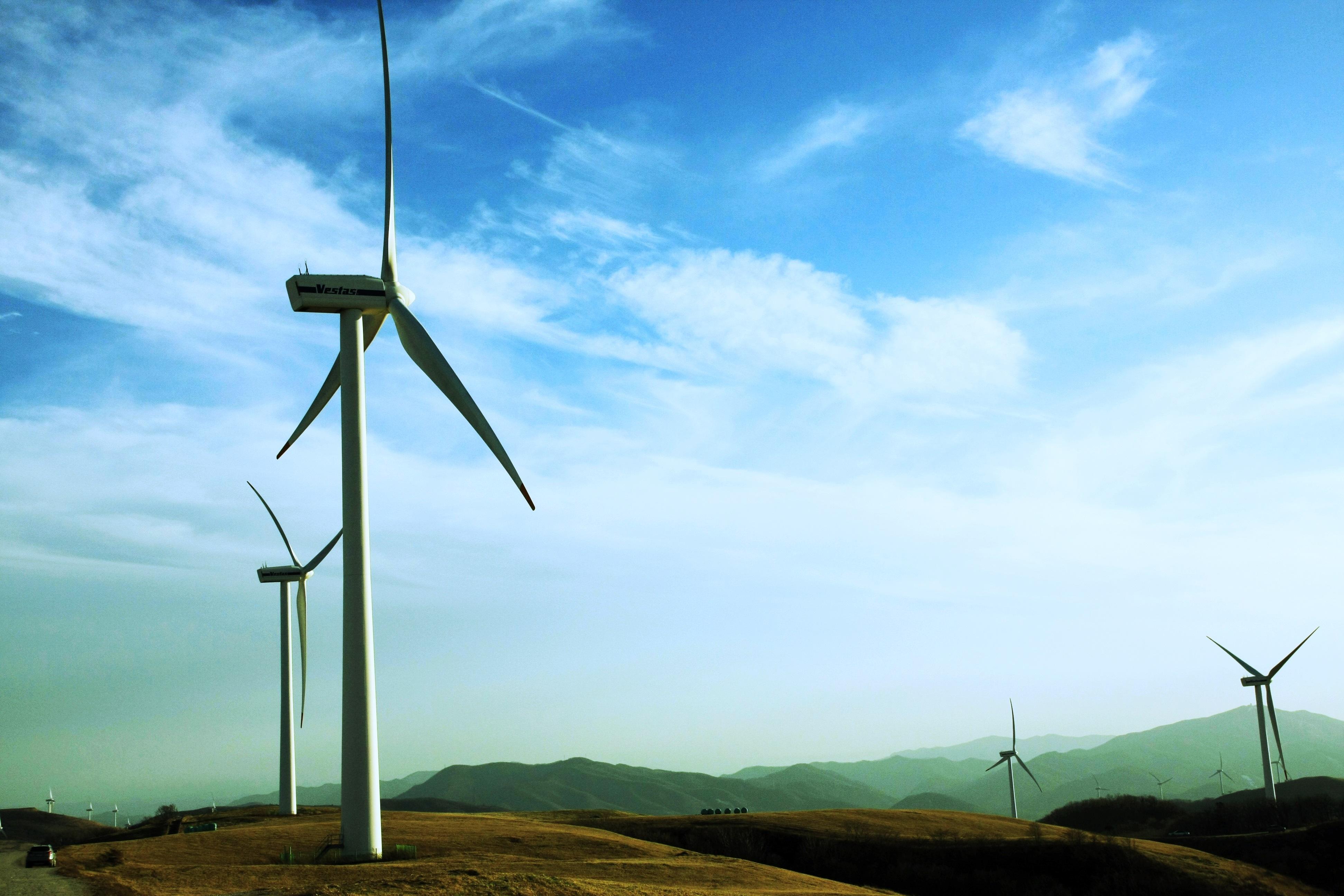 Free windmill machine wind turbine energy blue sky
