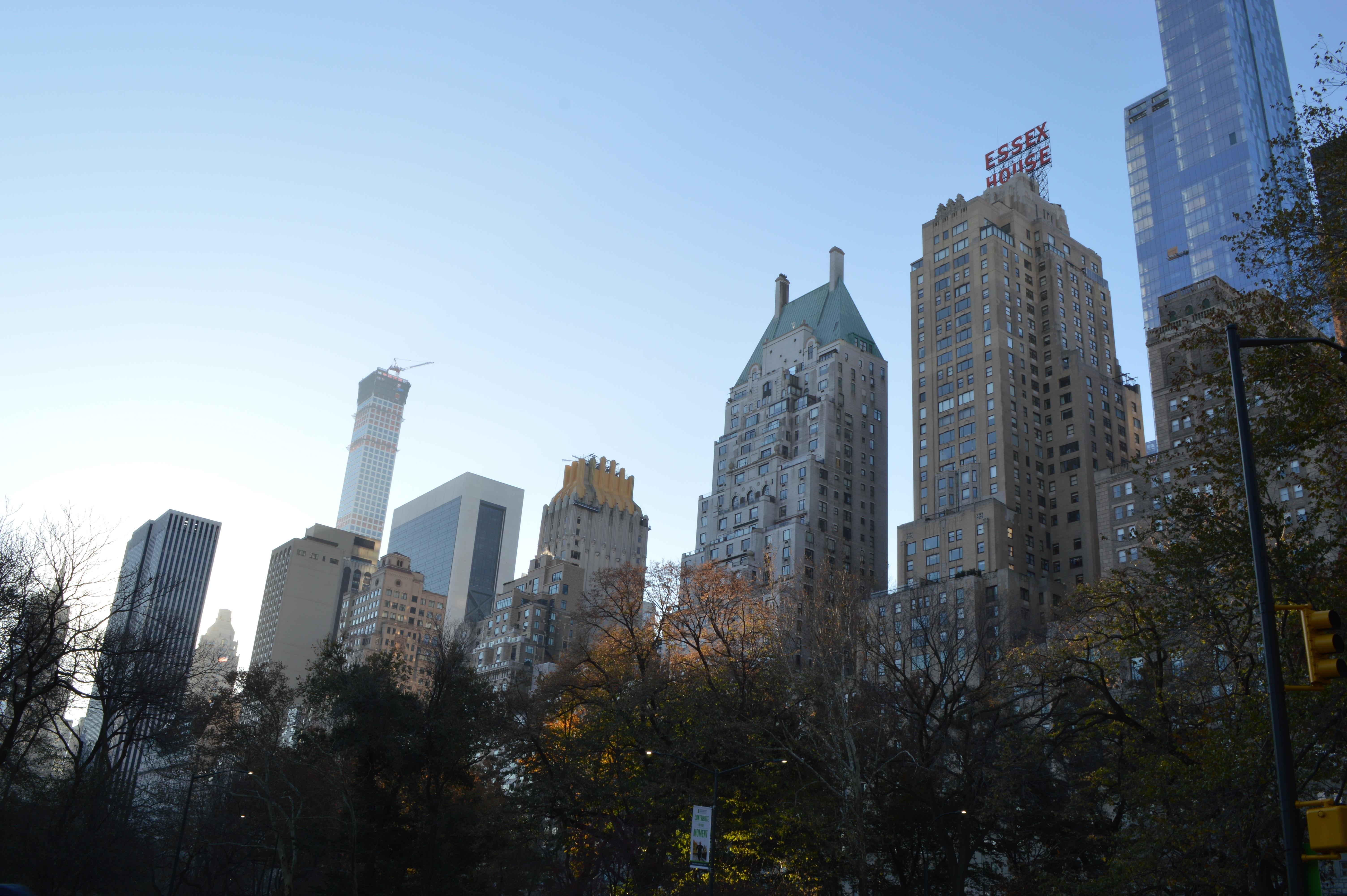 nueva york paisaje urbano centro de la ciudad torre punto de referencia catedral turismo parque central bloque de pisos estados unidos aguja