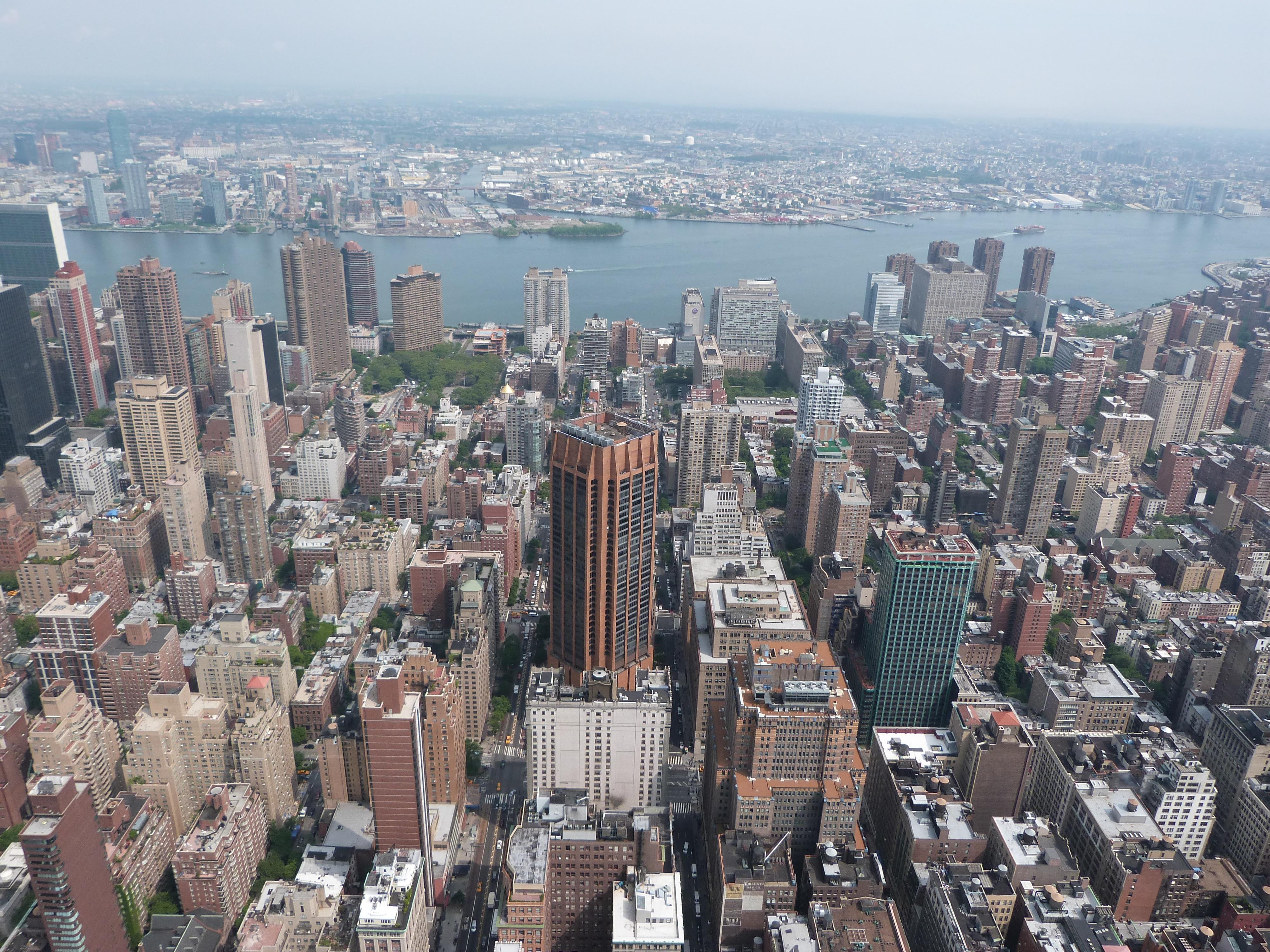 rascacielos nueva york manhattan paisaje urbano centro de la ciudad torre estados unidos edificio empire state bloque de pisos metrpoli