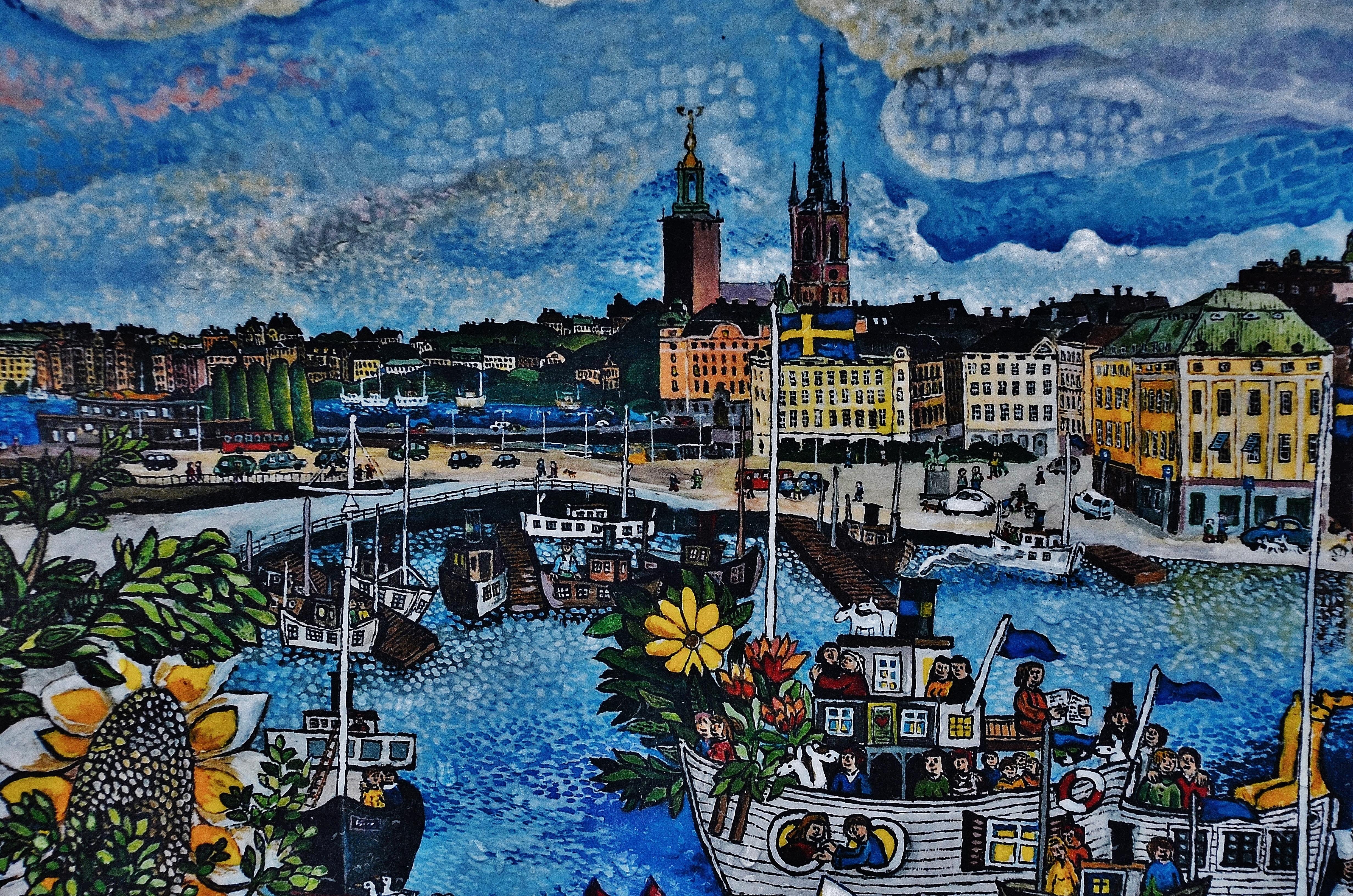Швеция картинка нарисованная