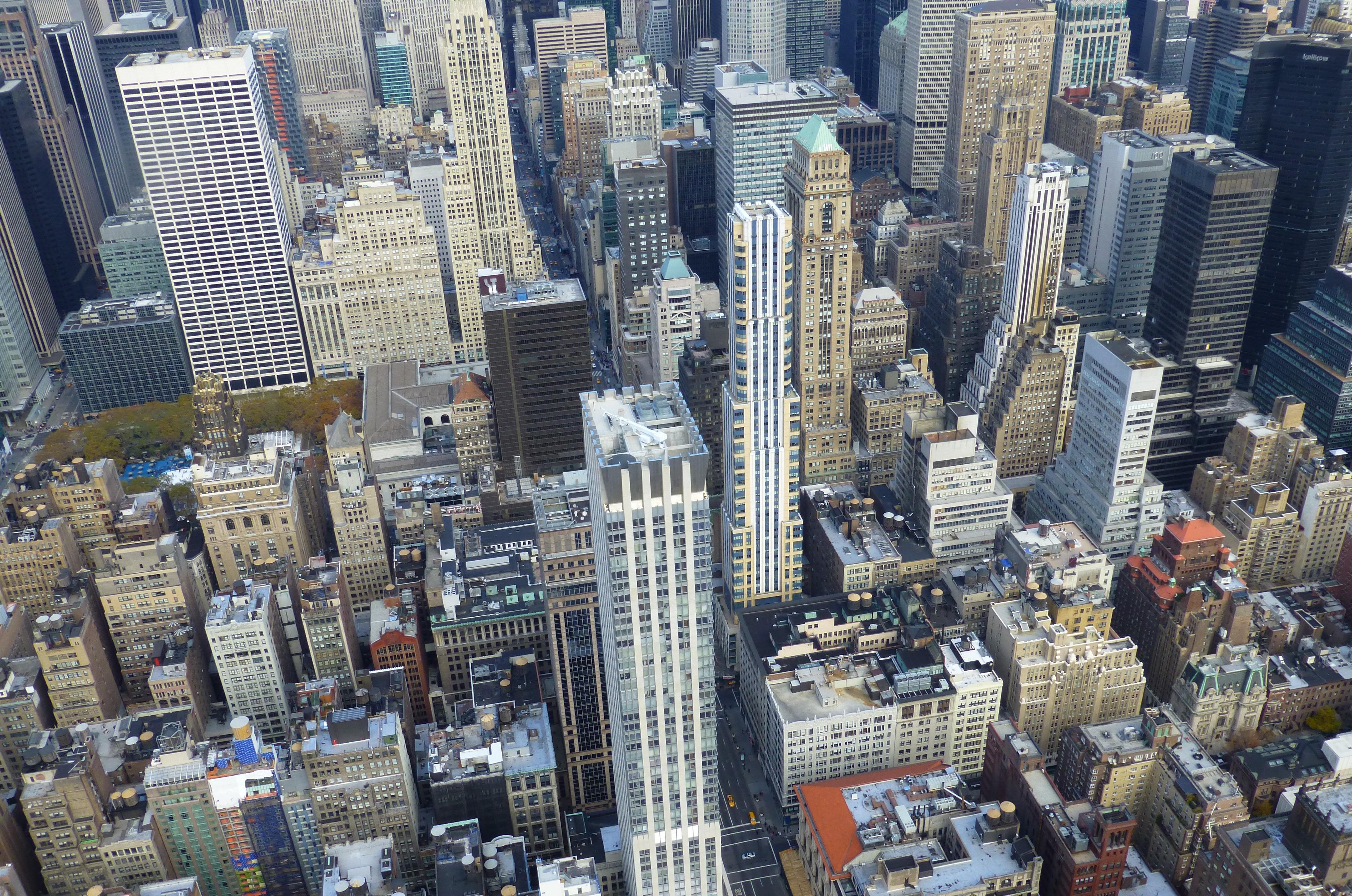 manhattan nueva york paisaje urbano panorama centro de la ciudad panormico torre america bloque de pisos estados unidos