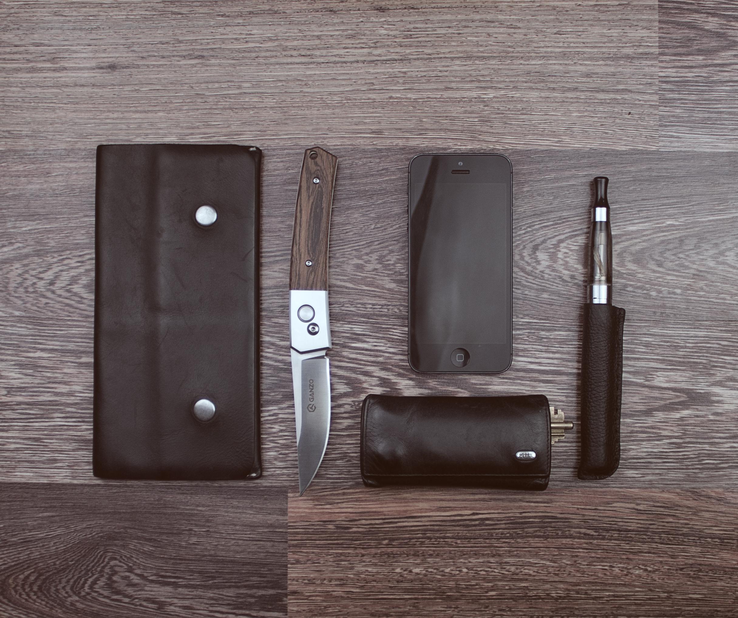 Stehlen Modern kostenlose foto smartphone schwarz und weiß holz leder stehlen