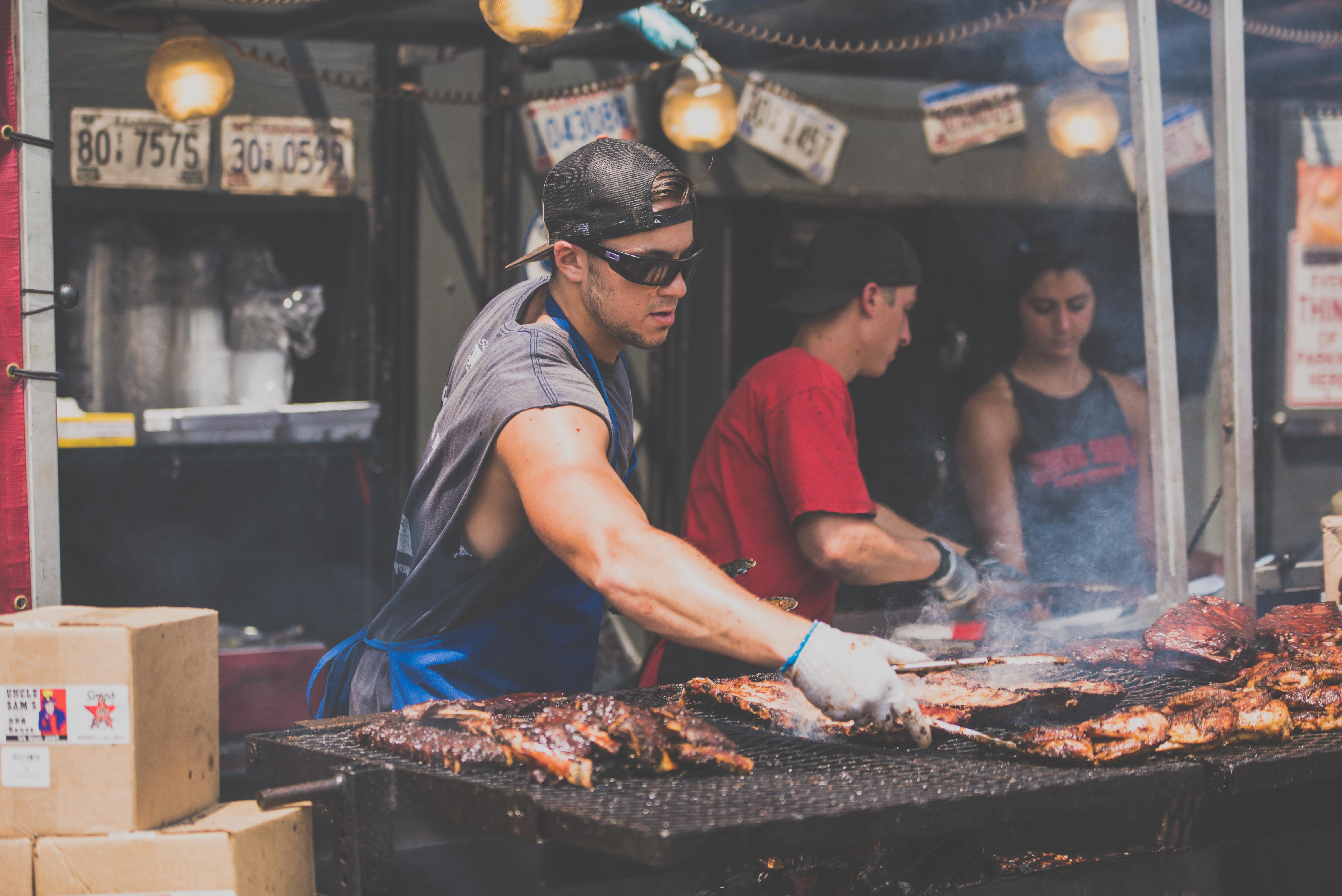 Free Images Smoke Dish Vendor Bbq Barbeque Market