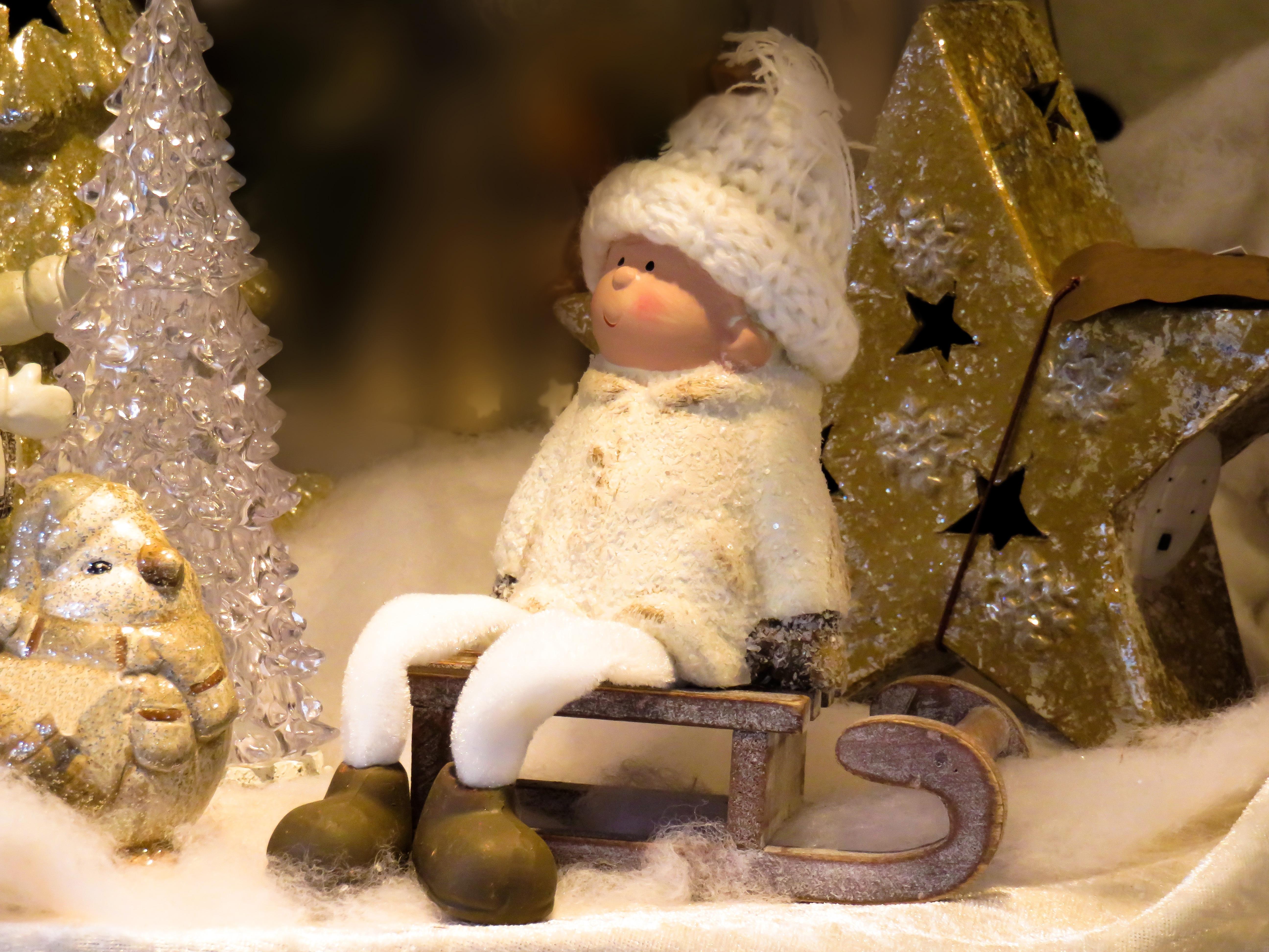 Kostenlose foto : Schnee, kalt, Winter, Star, Statue, Weihnachten ...