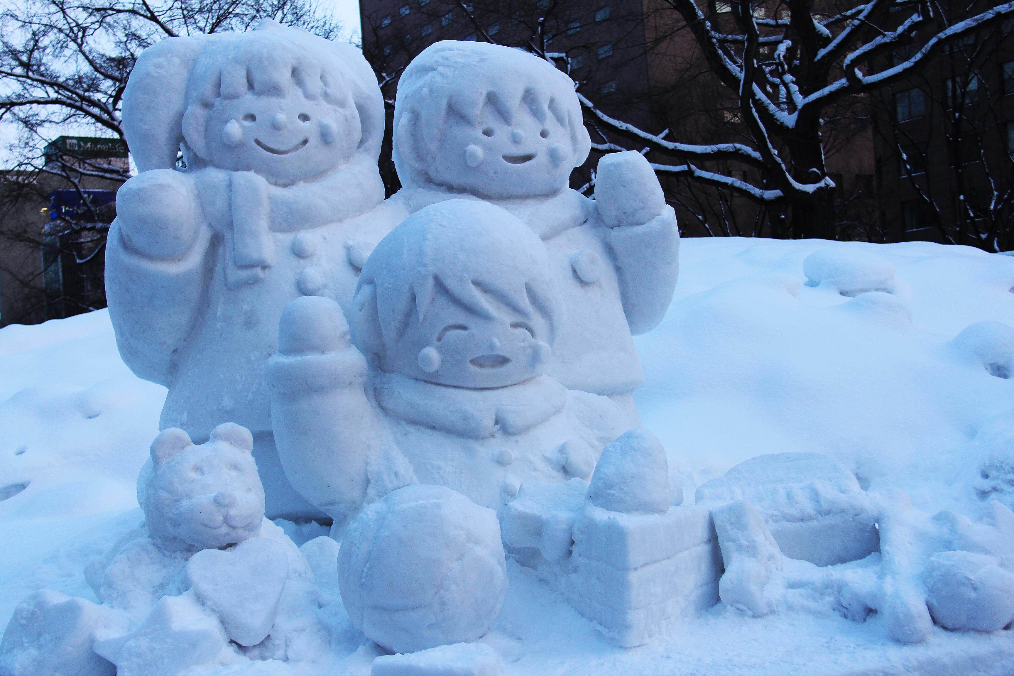 Gambar Musim Dingin Putih Es Cuaca Jepang Patung Festival