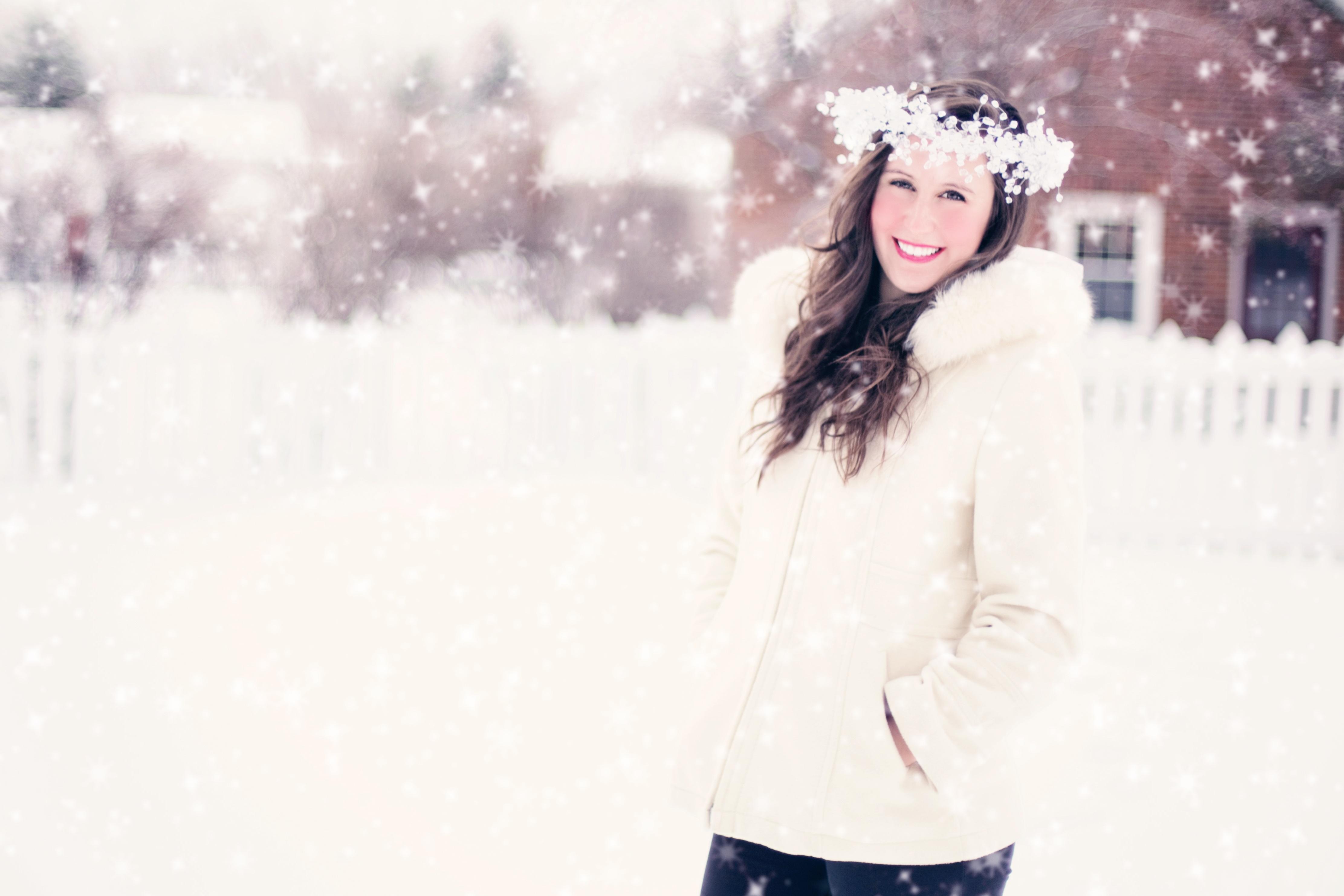 Kostenlose foto : Schnee, kalt, Winter, Frau, Weiß, Porträt ...