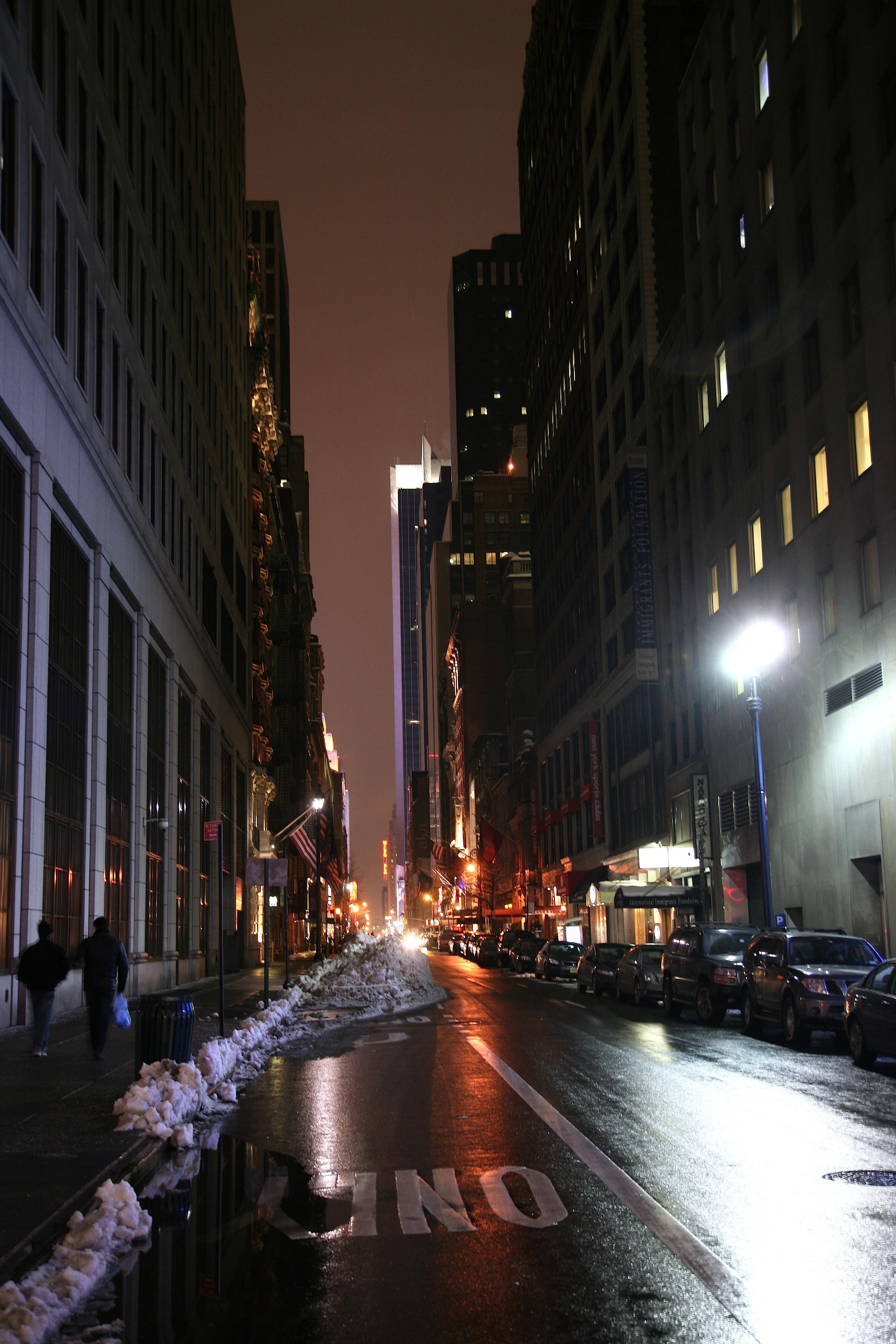 free images snow light road skyline street night city
