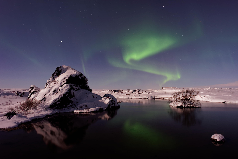 Free Images Snow Night Lake Atmosphere Reflection Iceland