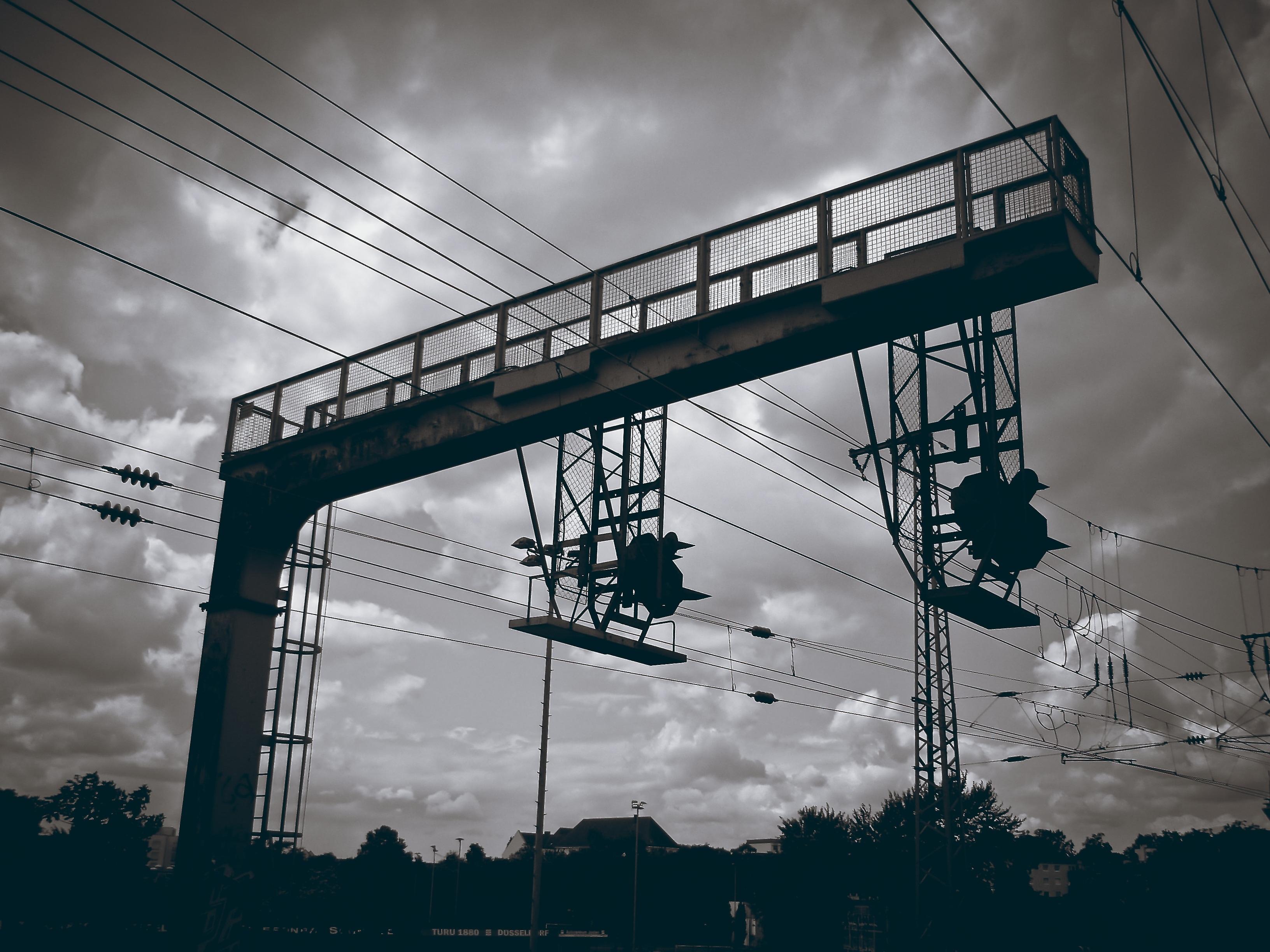 Free Images : snow, winter, bridge, train, dark, transport