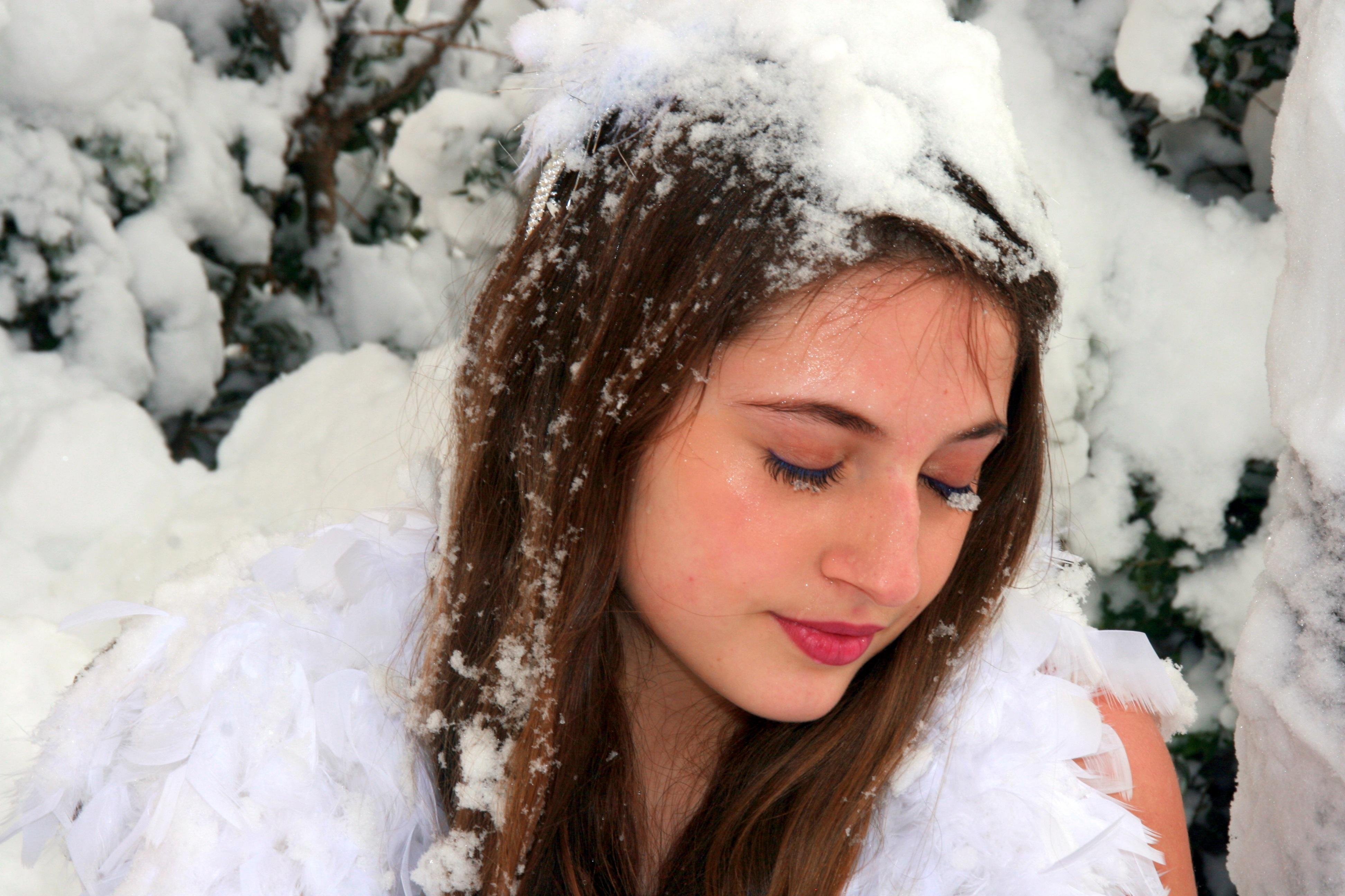 Красивые картинки девушки и зима