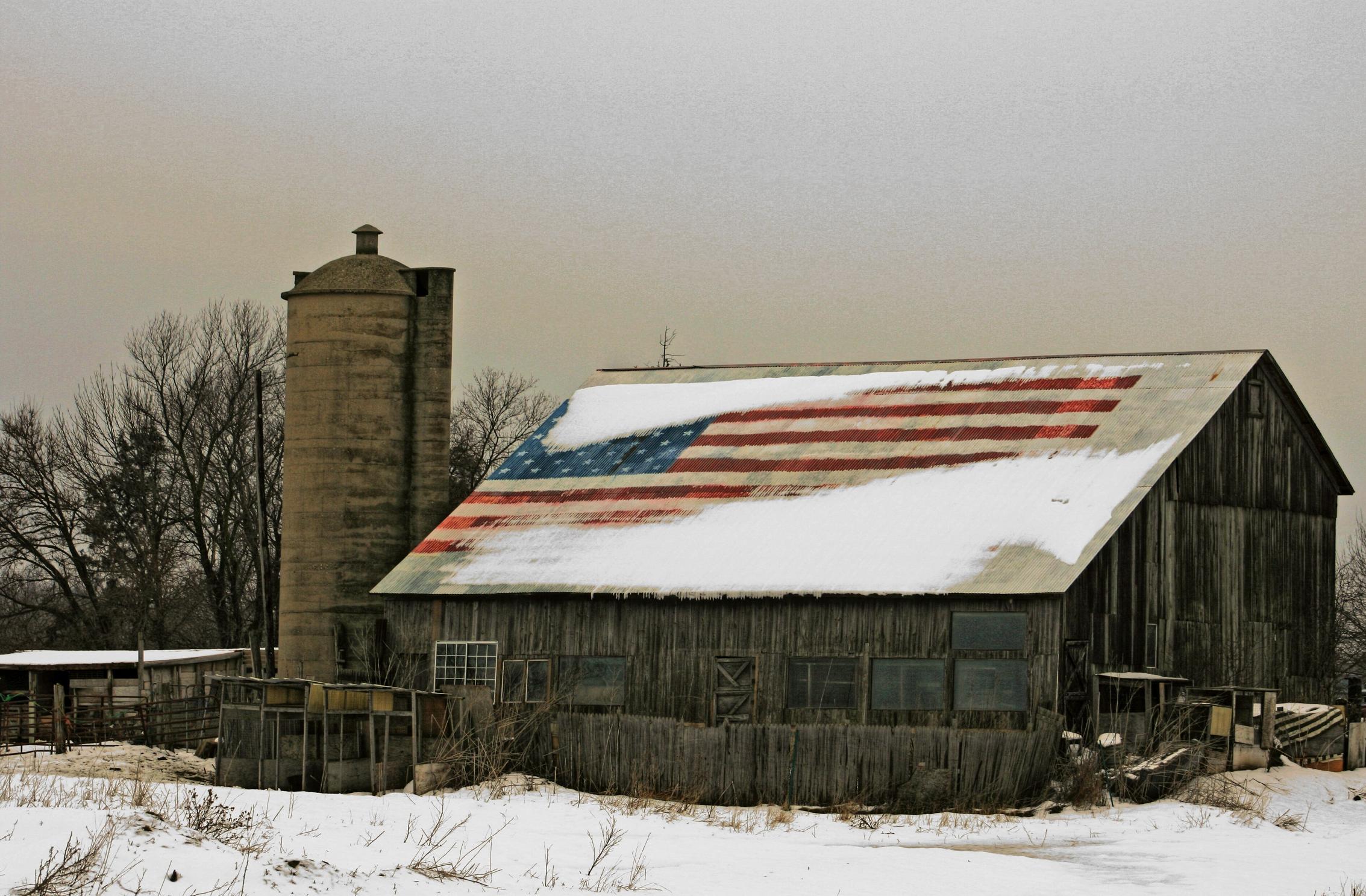Snow Winter House Barn Rustic Rural Farming Weather Season Farms Americanflag Barns Shape Brighton Newagecrapphotography Wisconsinbarn