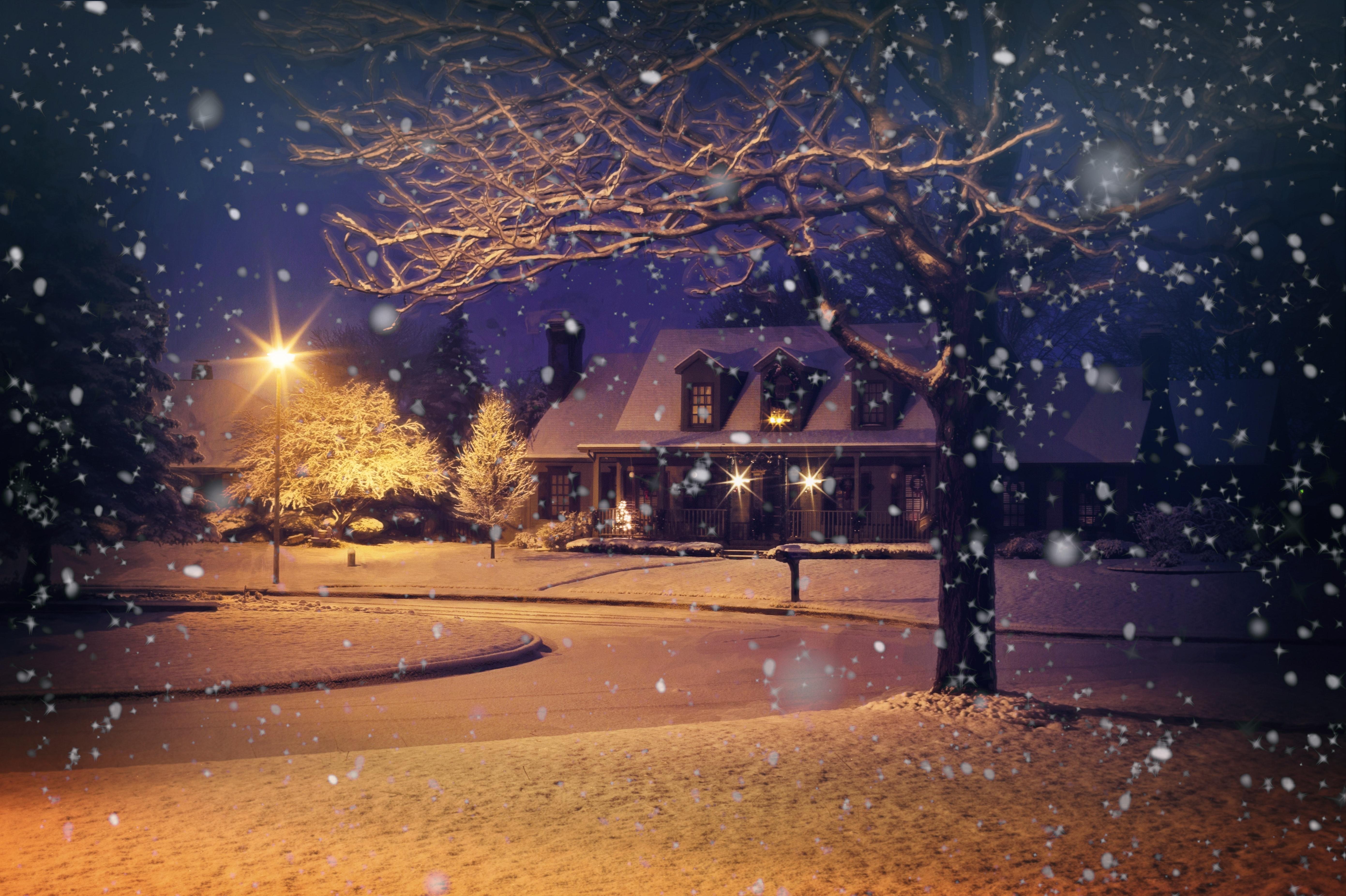 таким зимний вечер фото на рабочий стол ужас