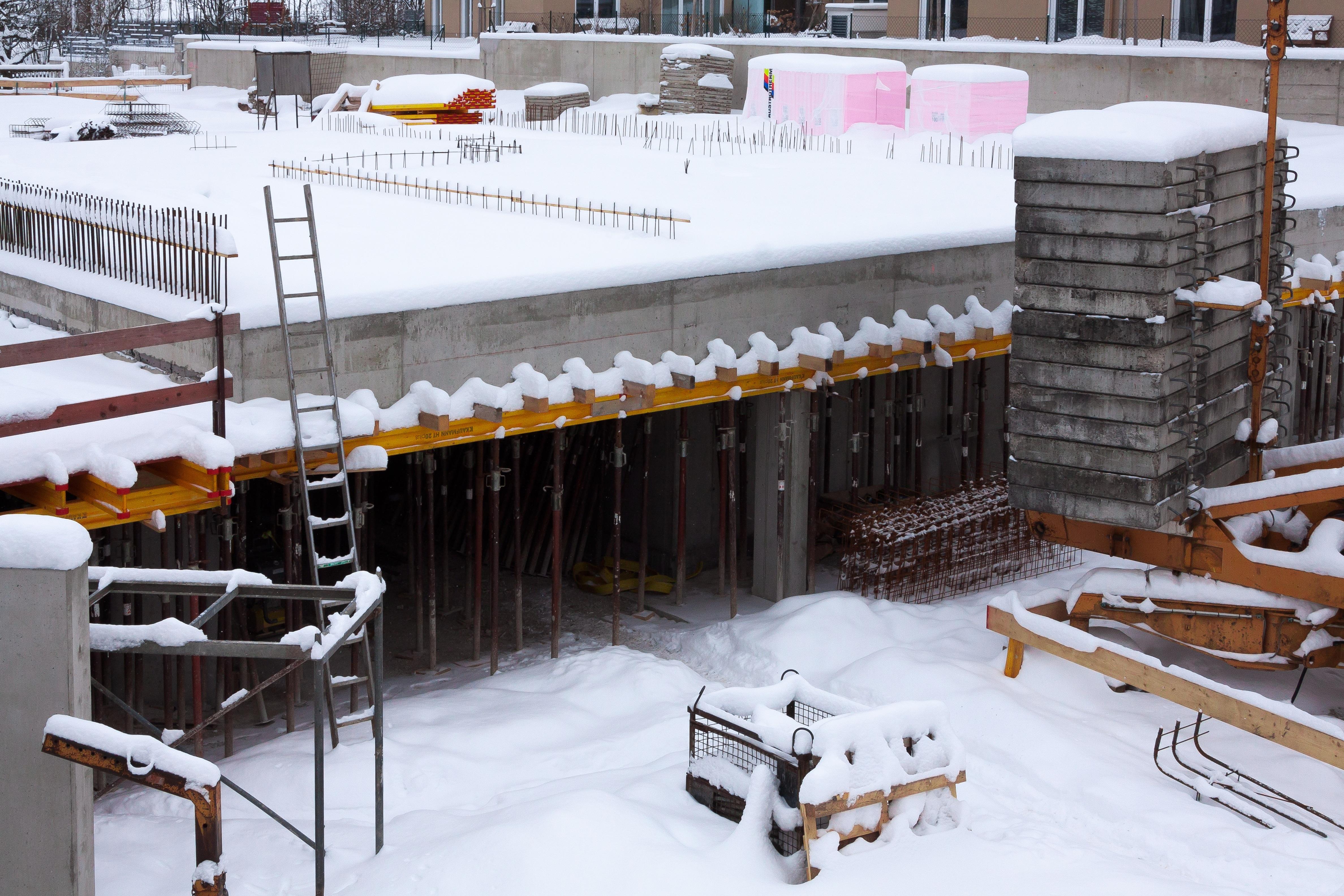 Kostenlose Foto Schnee Winter Dach Eis Bau Beton