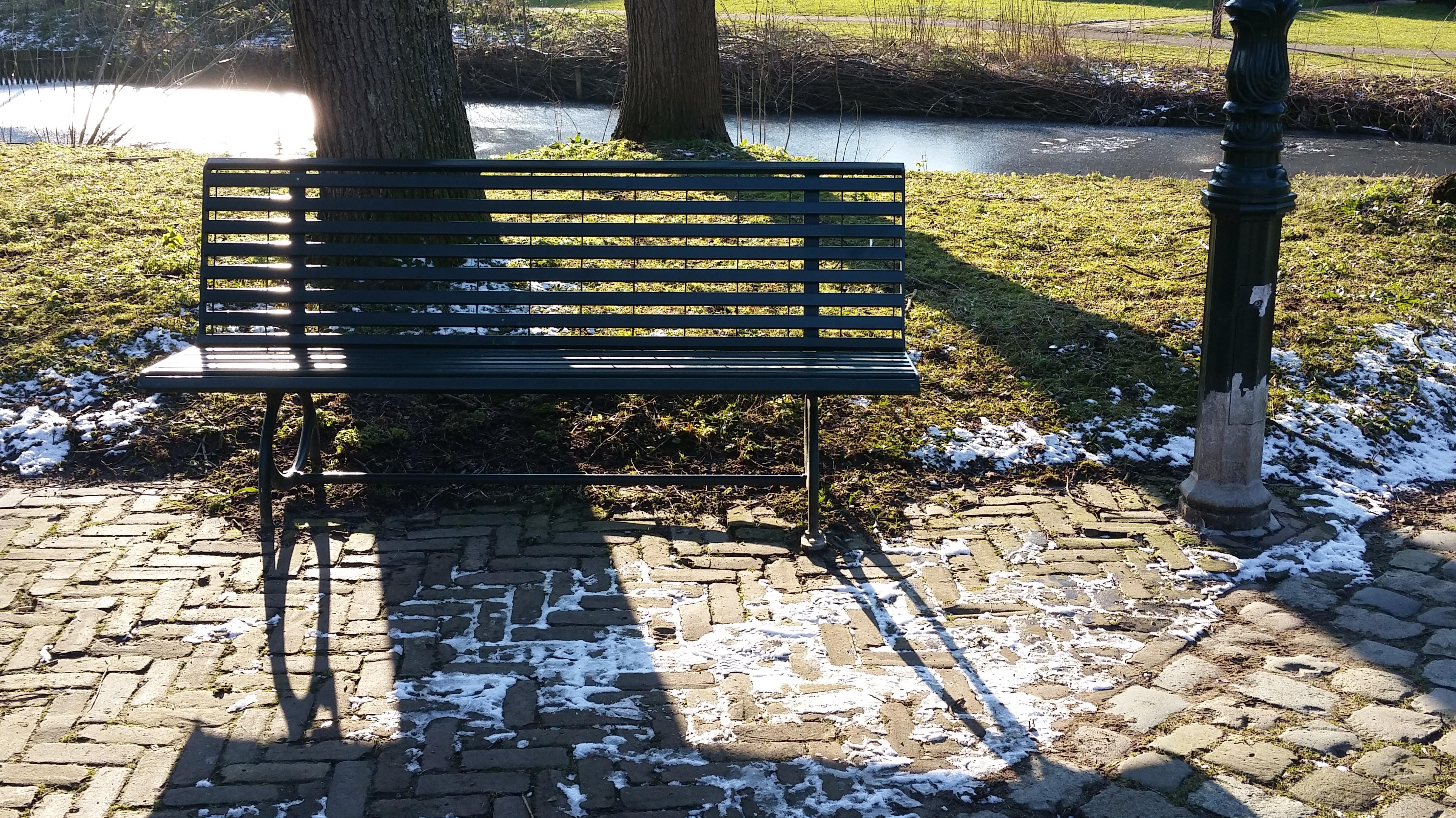 Fotos gratis : nieve, madera, banco, Pasarela, parque, patio ...
