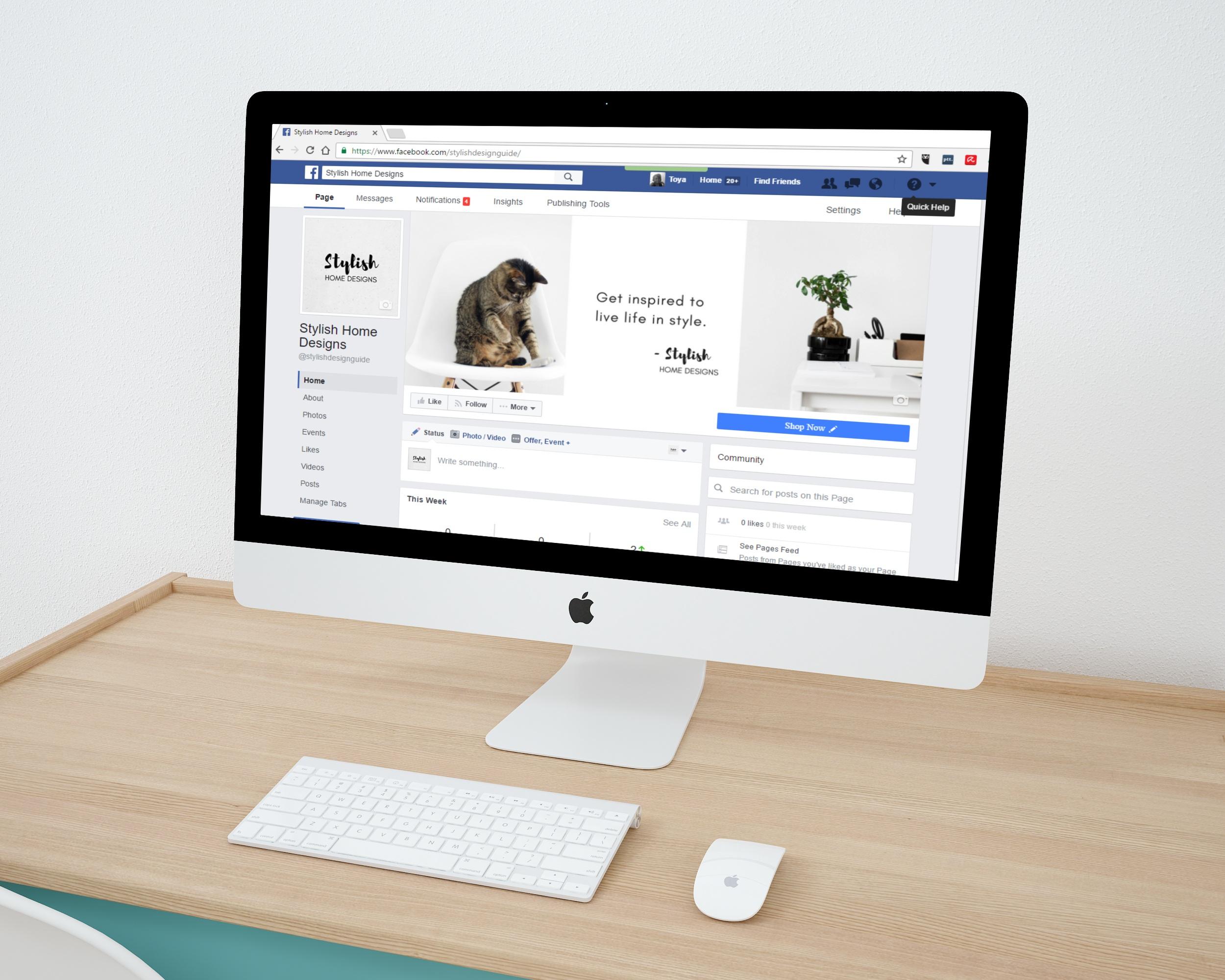 Multimedia Presentation Screenshot Online Royalty Free Mockup Small Business Social Networking Network Digital Marketing Home Design