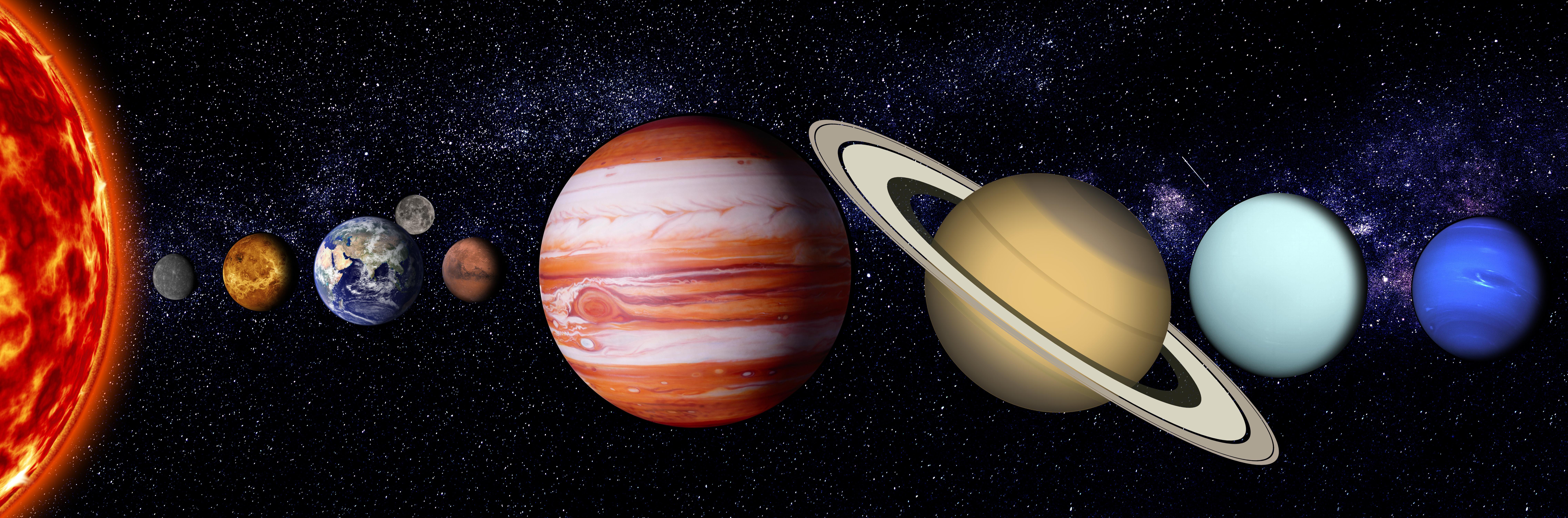 Fotoğraf Güneş Sistemi Evren Toprak Jüpiter Satürn Ay Merkür