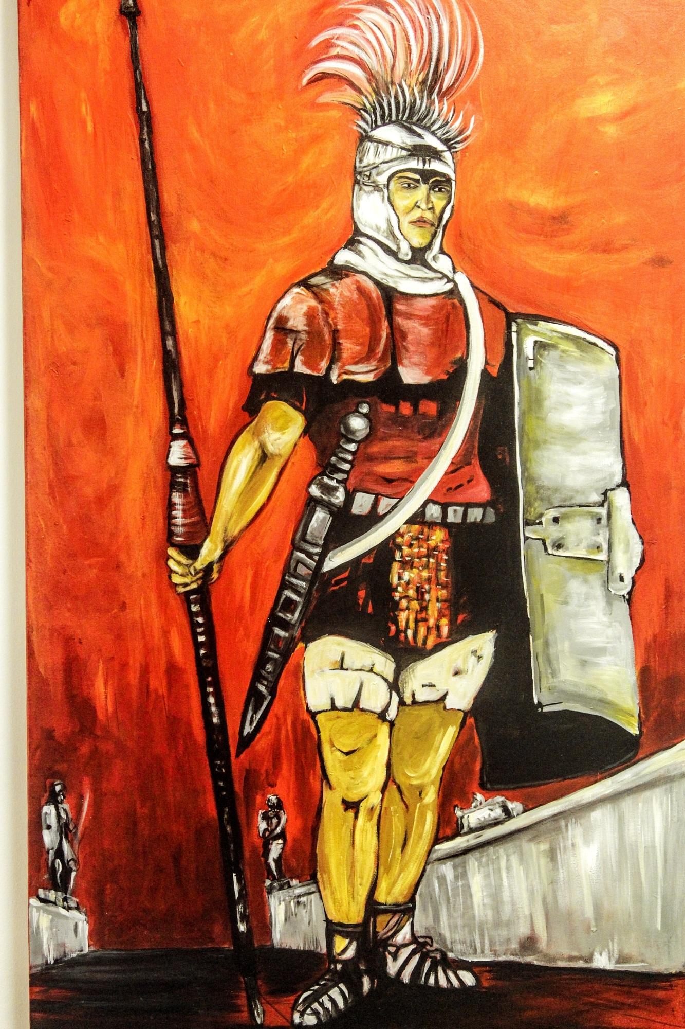 Gambar Tentara Pedang Troy Sketsa Gambar Ilustrasi Kemudi