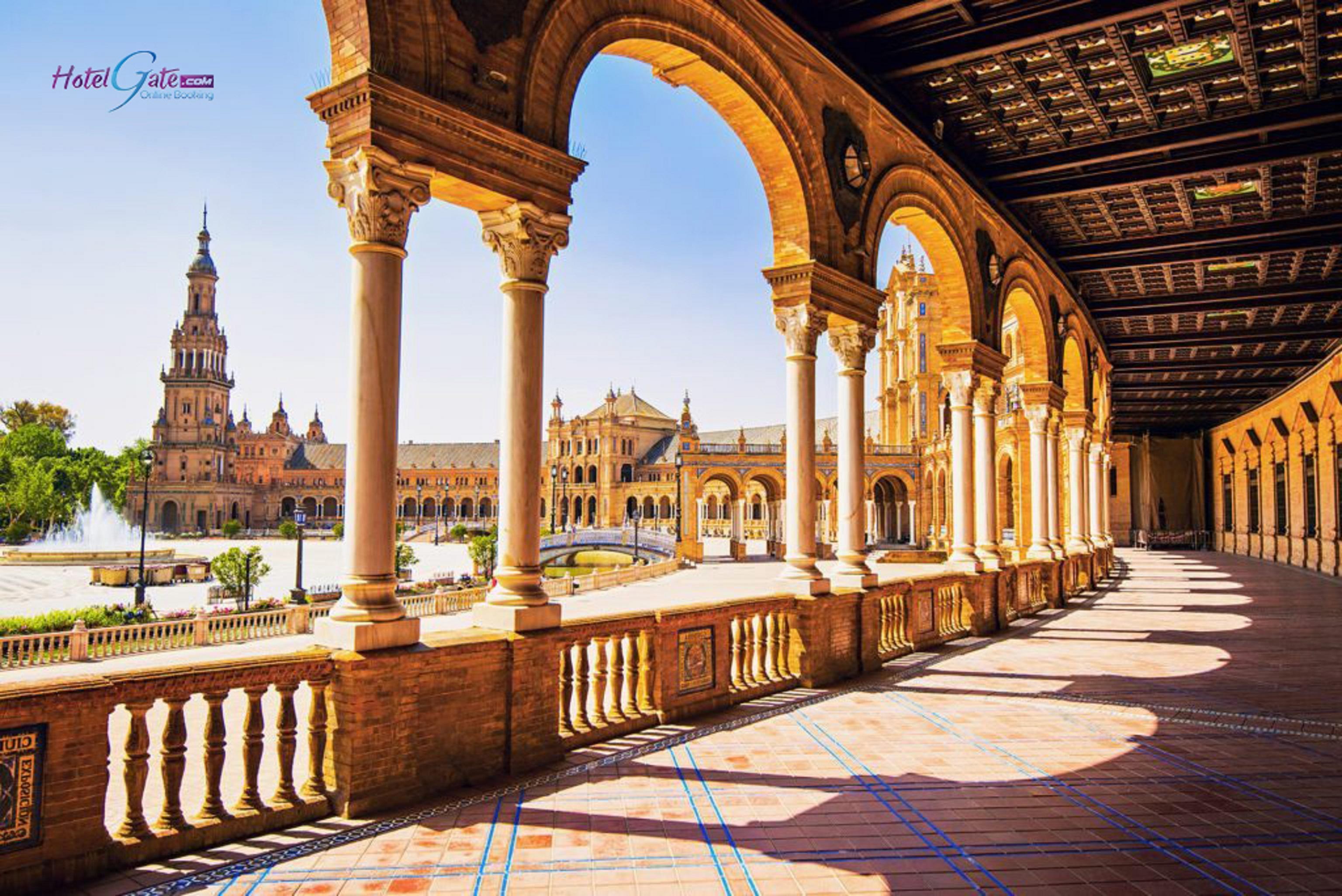 Free Images  Spain, Hotel, Landmark, Historic Site, Plaza -8709