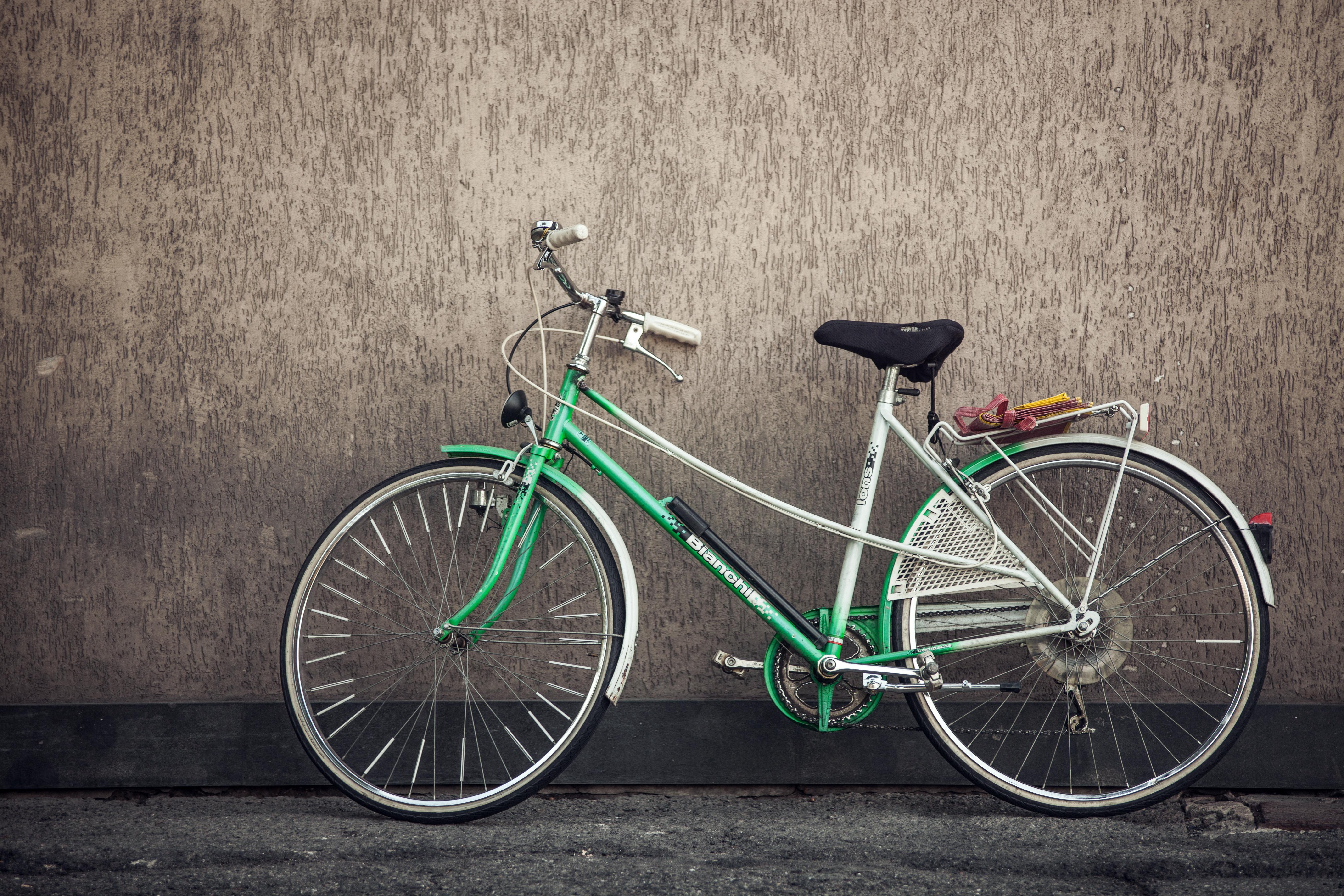 Kostenlose foto : Sport, Rad, Mauer, Transport, Grün, Fahrzeug, Öko ...