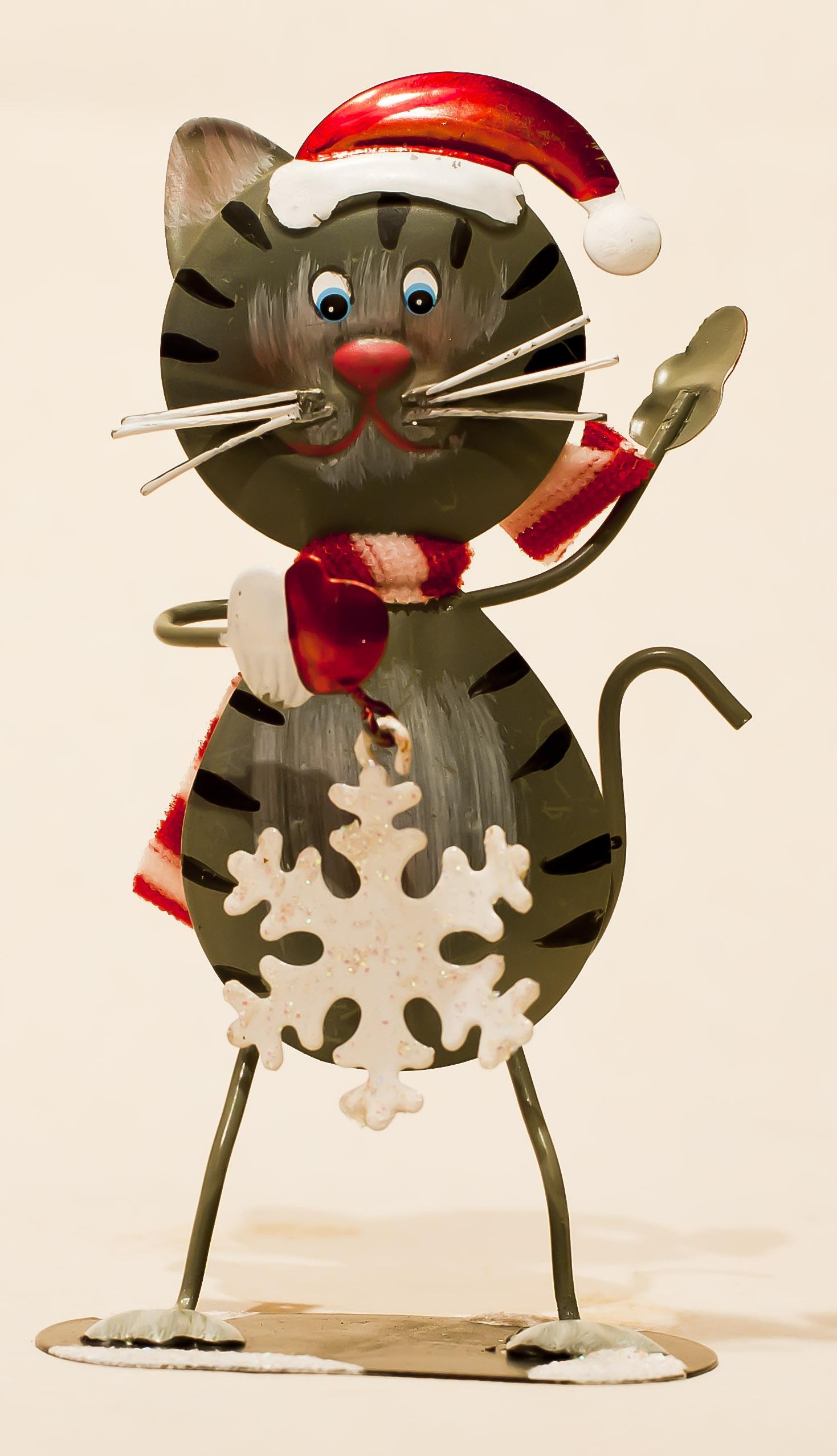 Gambar Bintang Dekorasi Kucing Hari Natal Mainan Syal