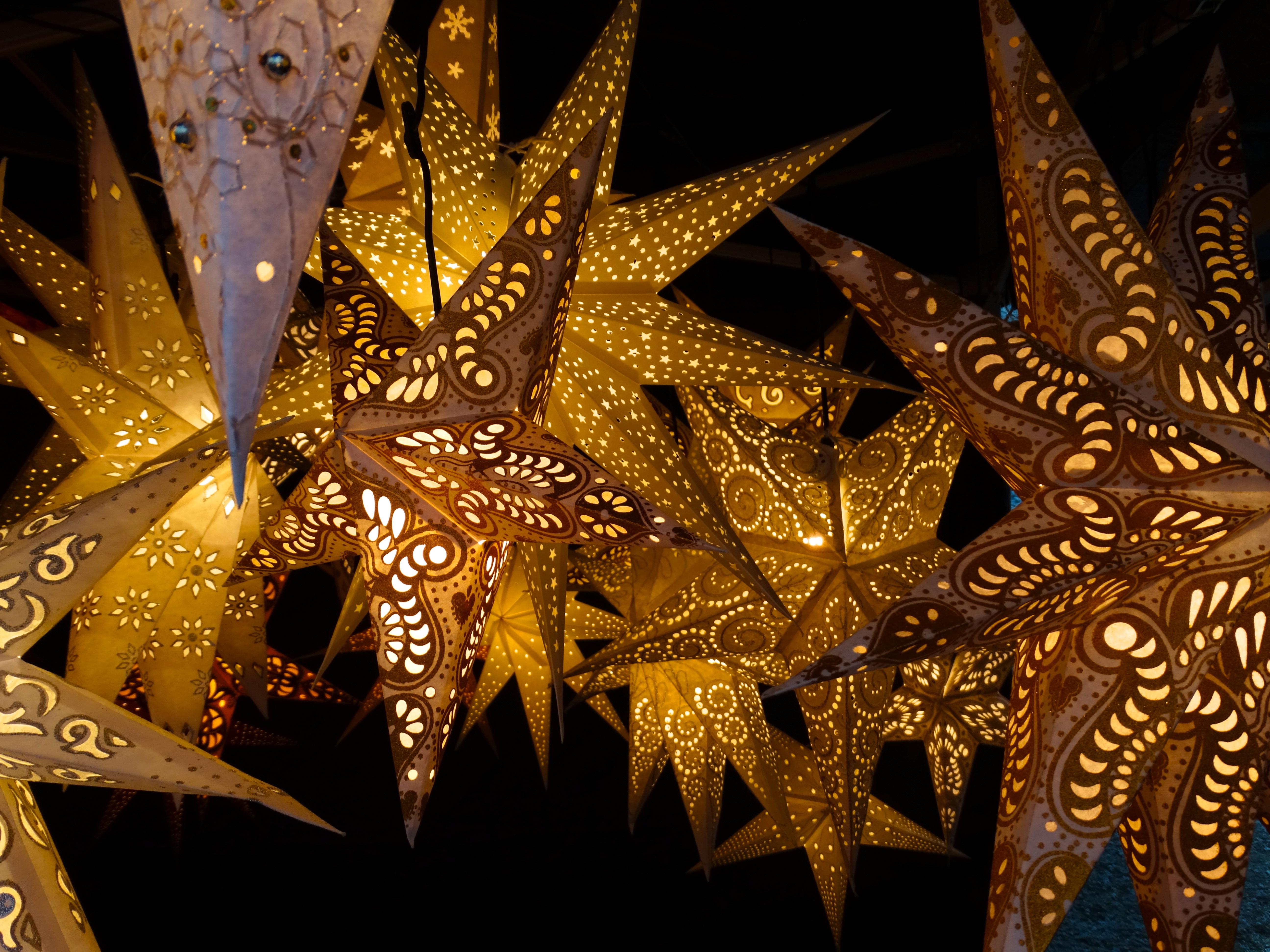 star decoration christmas christmas decoration symmetry christmas lights fractal art luminous stars
