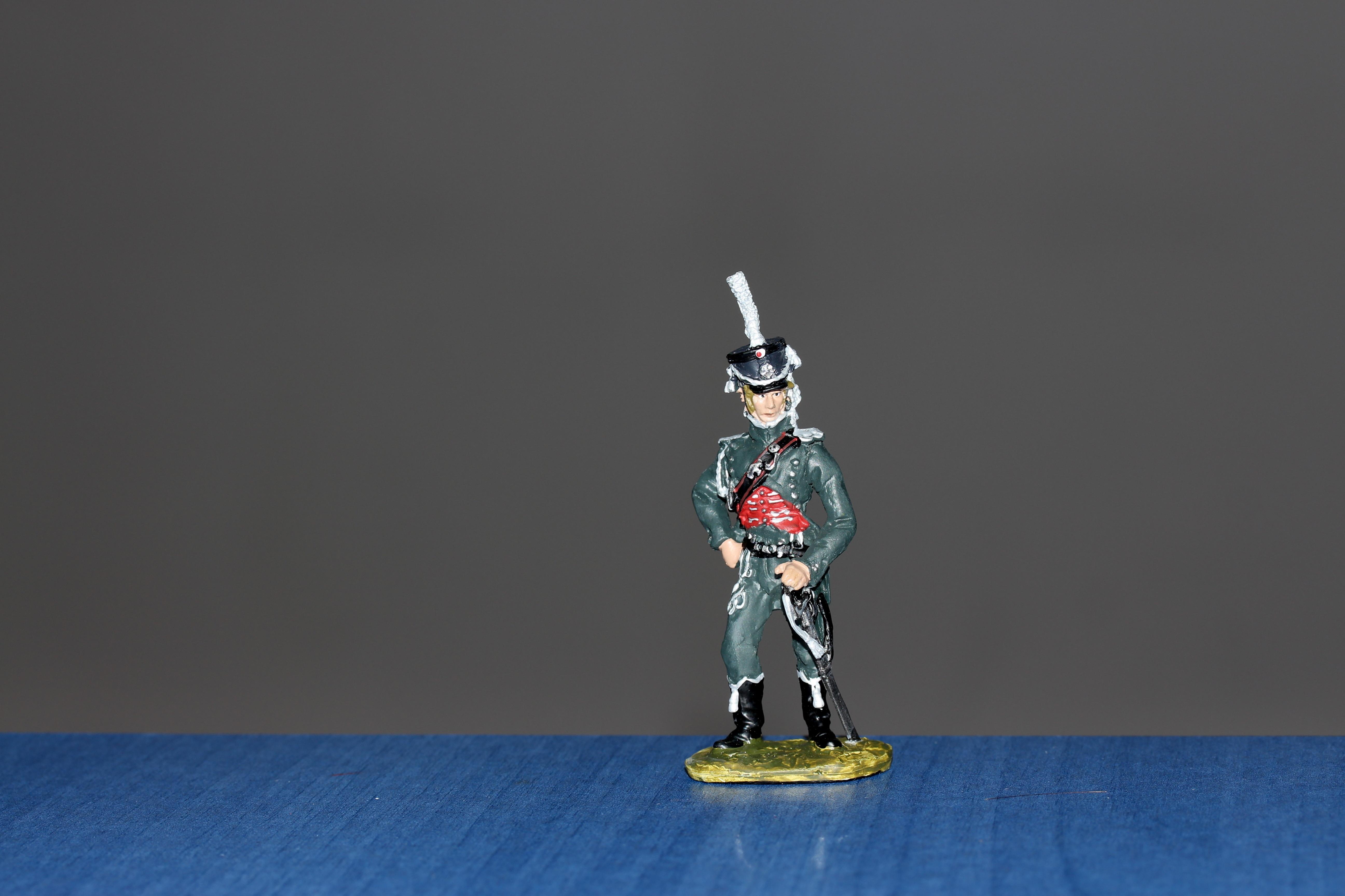 Fotoğraf Heykel Asker Ordu Mavi Oyuncak Minyatür Boyama