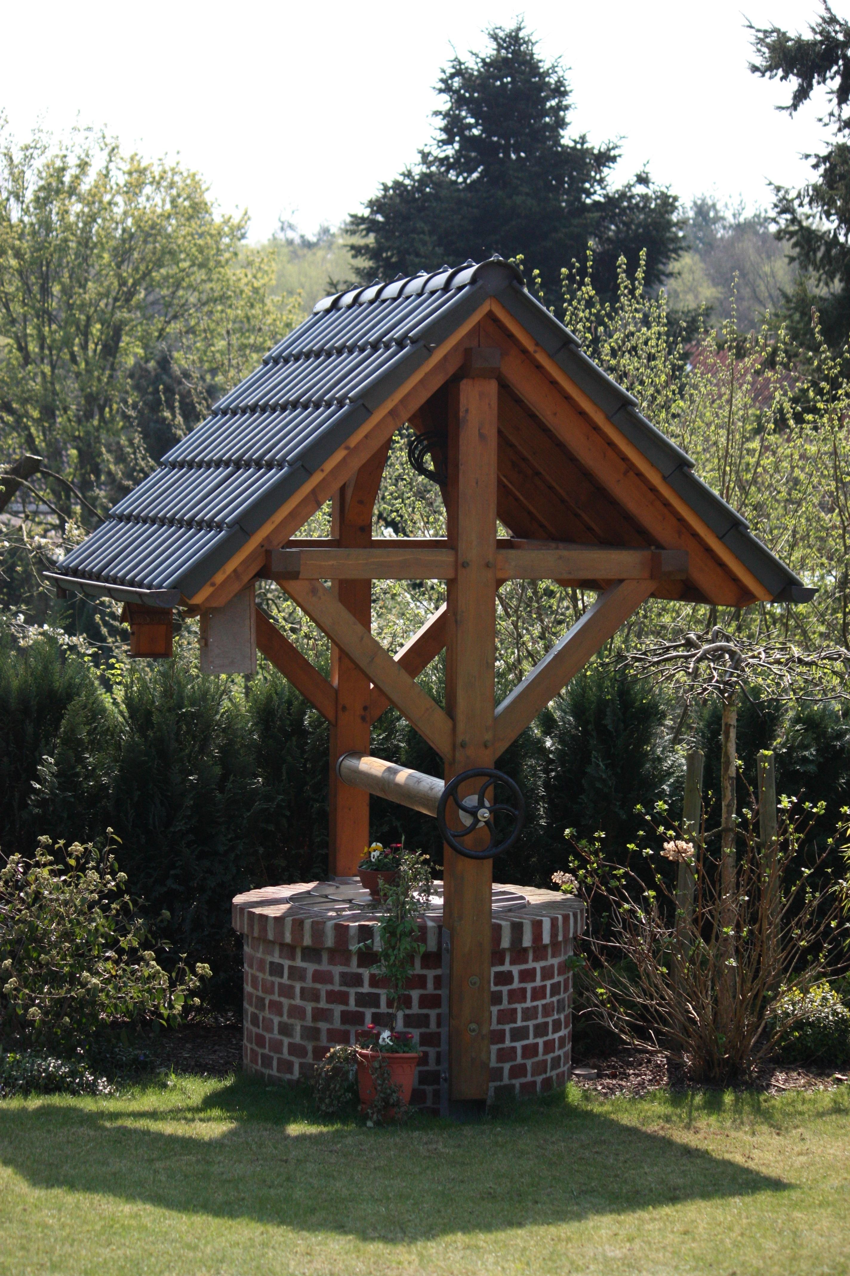 Gambar Batu Pondok Gazebo Pavilyun Air Mancur Gartendeko