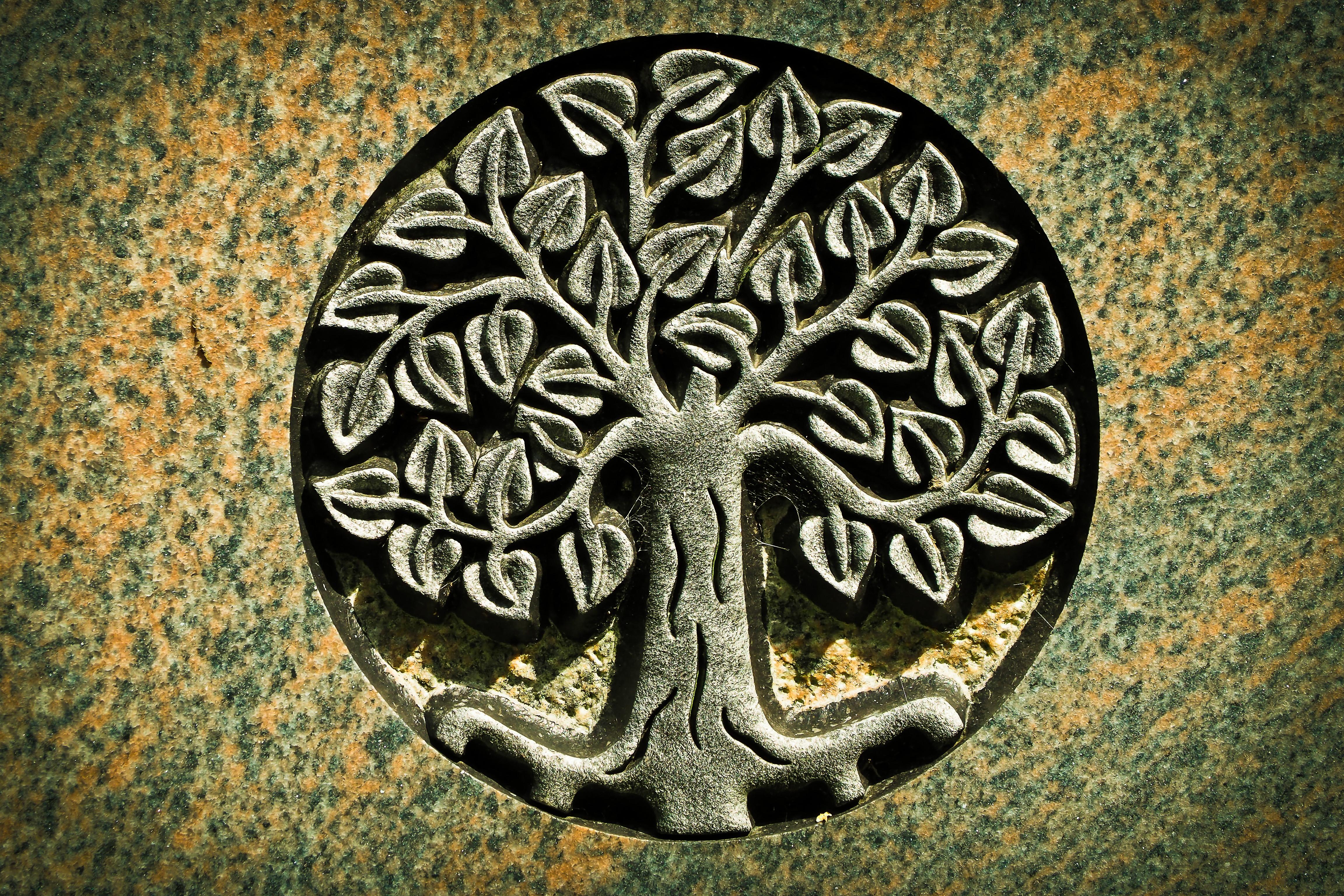 Images gratuites r flexion symbole m moire cimeti re pierre tombale d c s cercle la - Symbole de la vie ...