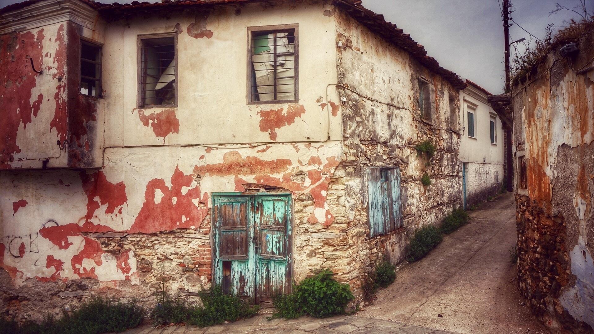 Fotos gratis calle grecia casa antigua pueblo viejo for Casas griegas antiguas