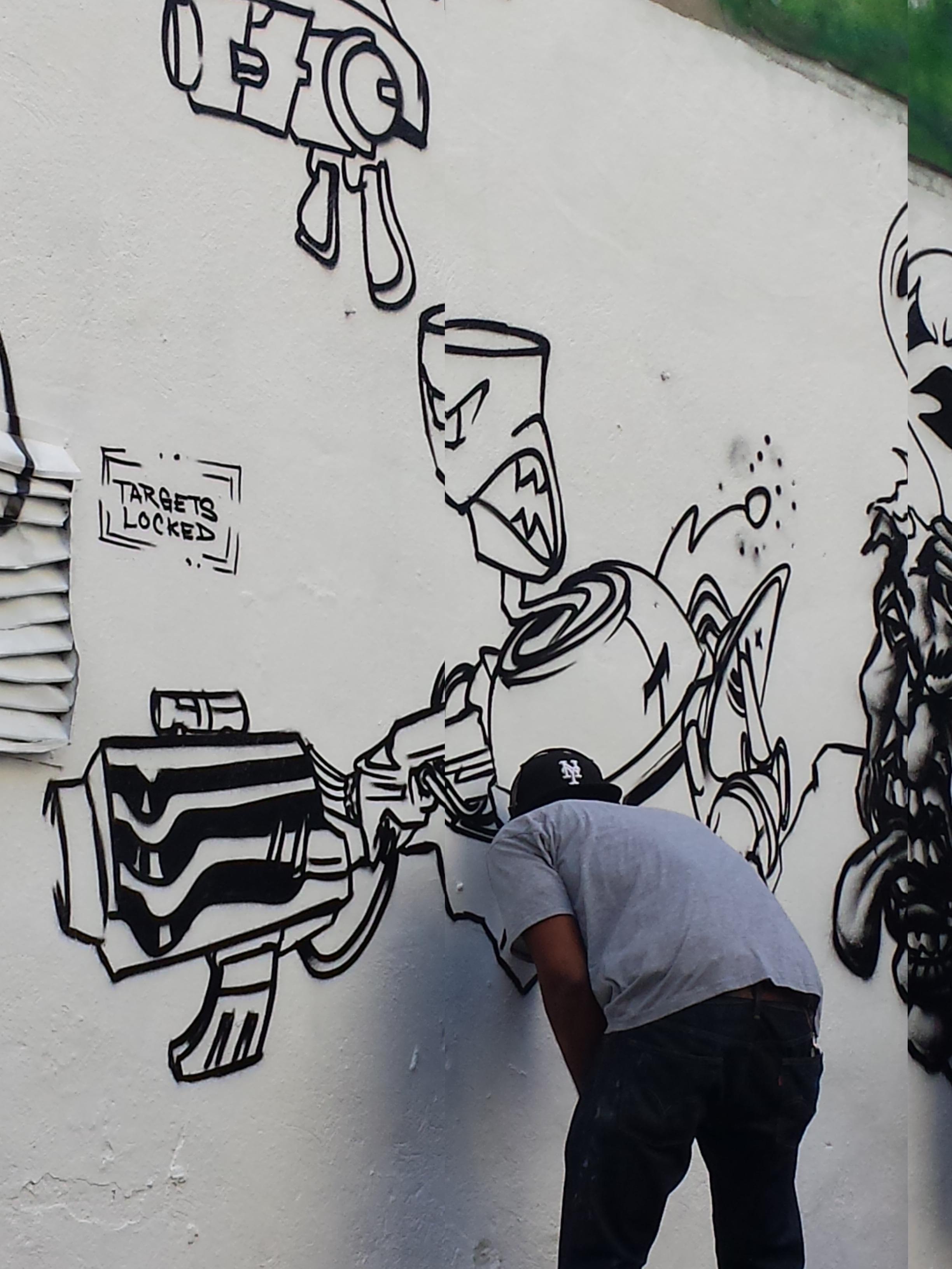 Free Urban Wall Spray Artistic Paint Graffiti