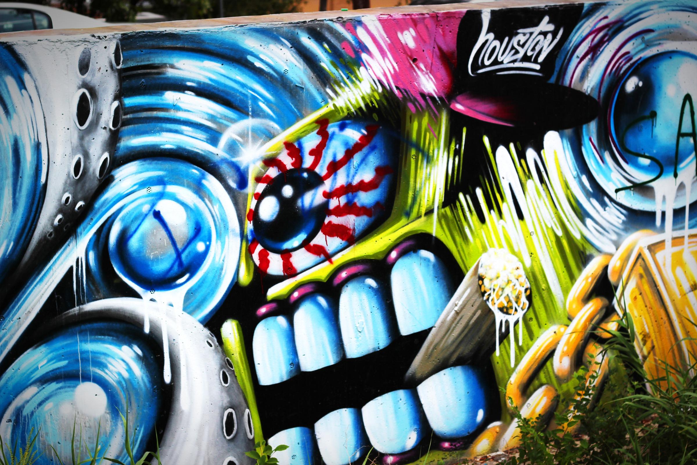 Street Wall Spray Color Artistic Paint Graffiti Street Art Art Illustration Design Mural Spray Paint Modern