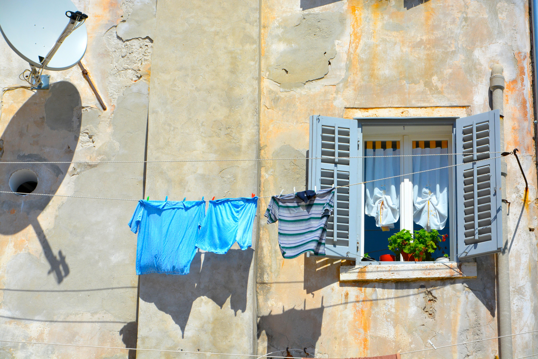 Images Gratuites Rue Fenêtre Mur Couleur Bleu La