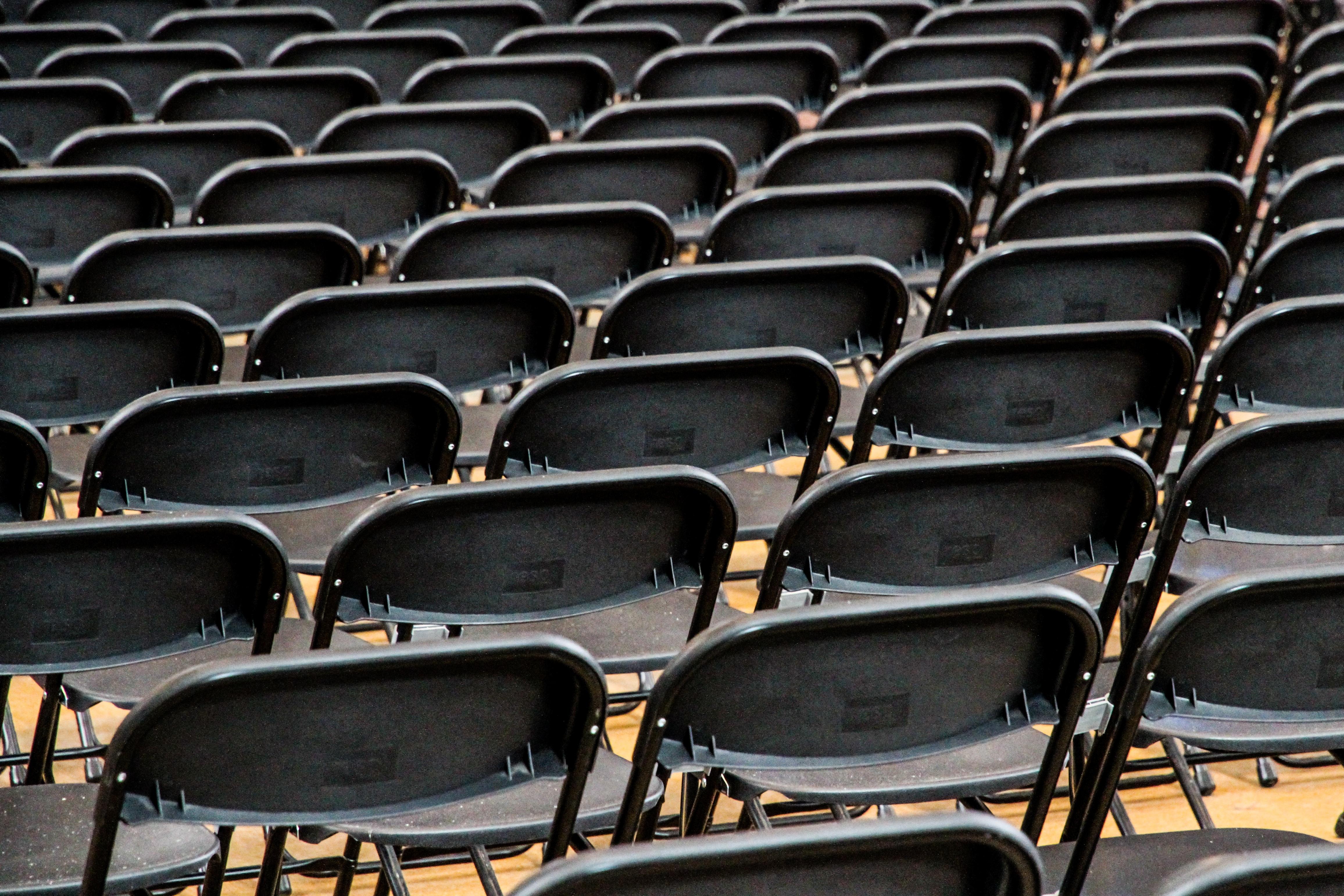 Free structure auditorium seat black furniture room