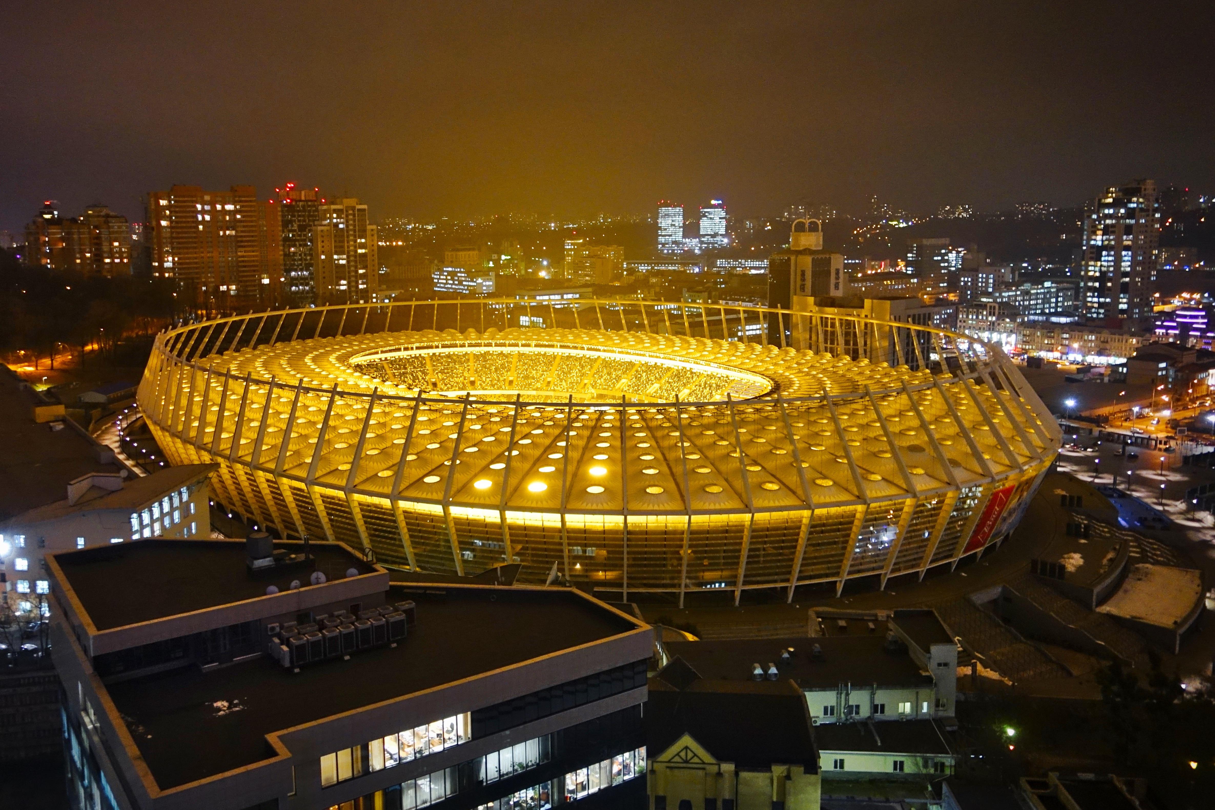 Free Images : structure, city, arena, ukraine, kiev, olympic stadium ...