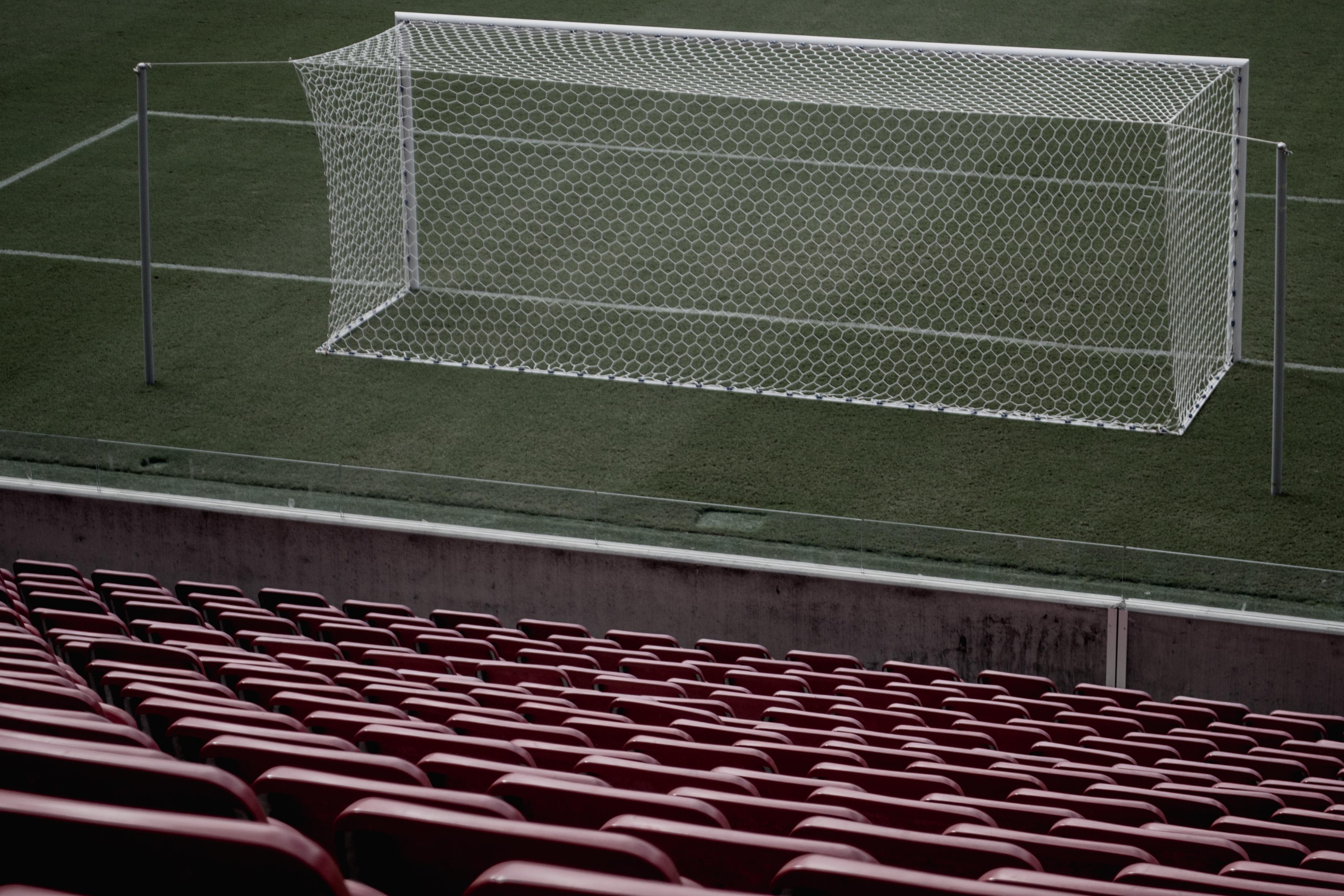 Gambar Struktur Baris Sepak Bola Kosong Kursi Arena Bangku Edited Stadion Tujuan Bersih Tempat Duduk Bentuk