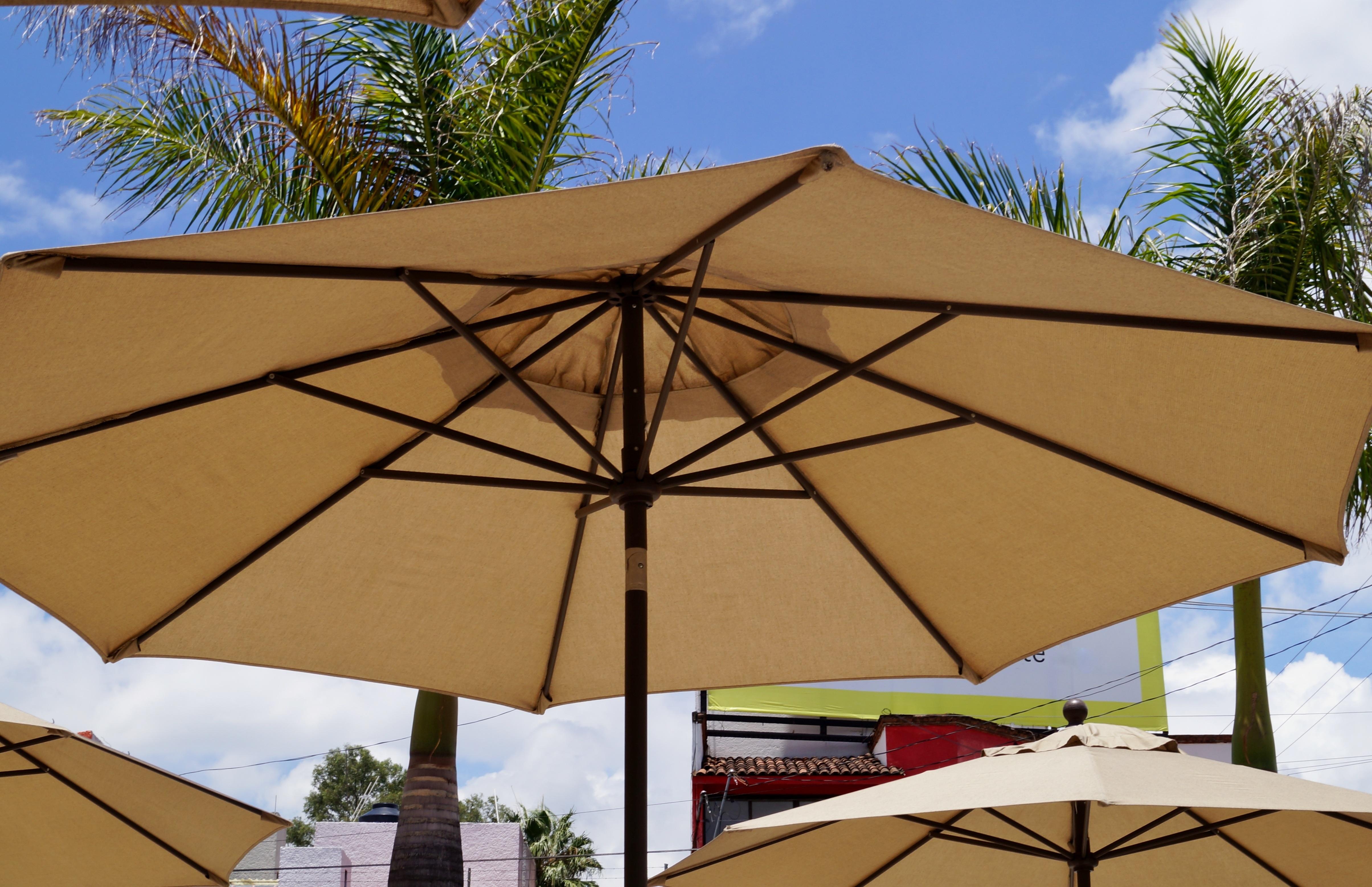 Sommer Umwelt überdachung Regenschirm Plaza Schatten Hitze Zelt Klima Kuppel Schattierung Sonnenschirm locker warmes Wetter
