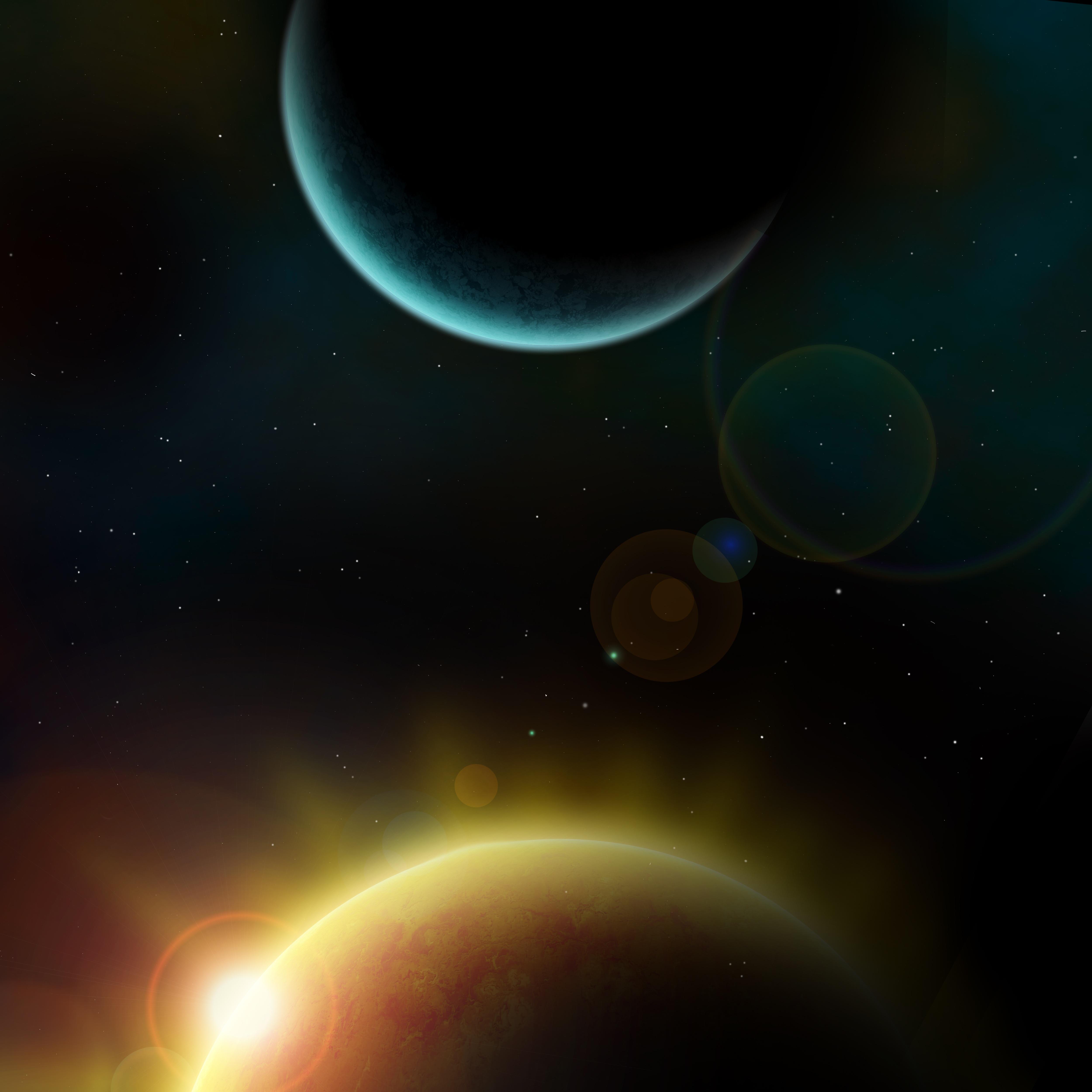 Gambar Matahari Bintang Suasana Mistik Luar Angkasa Alam