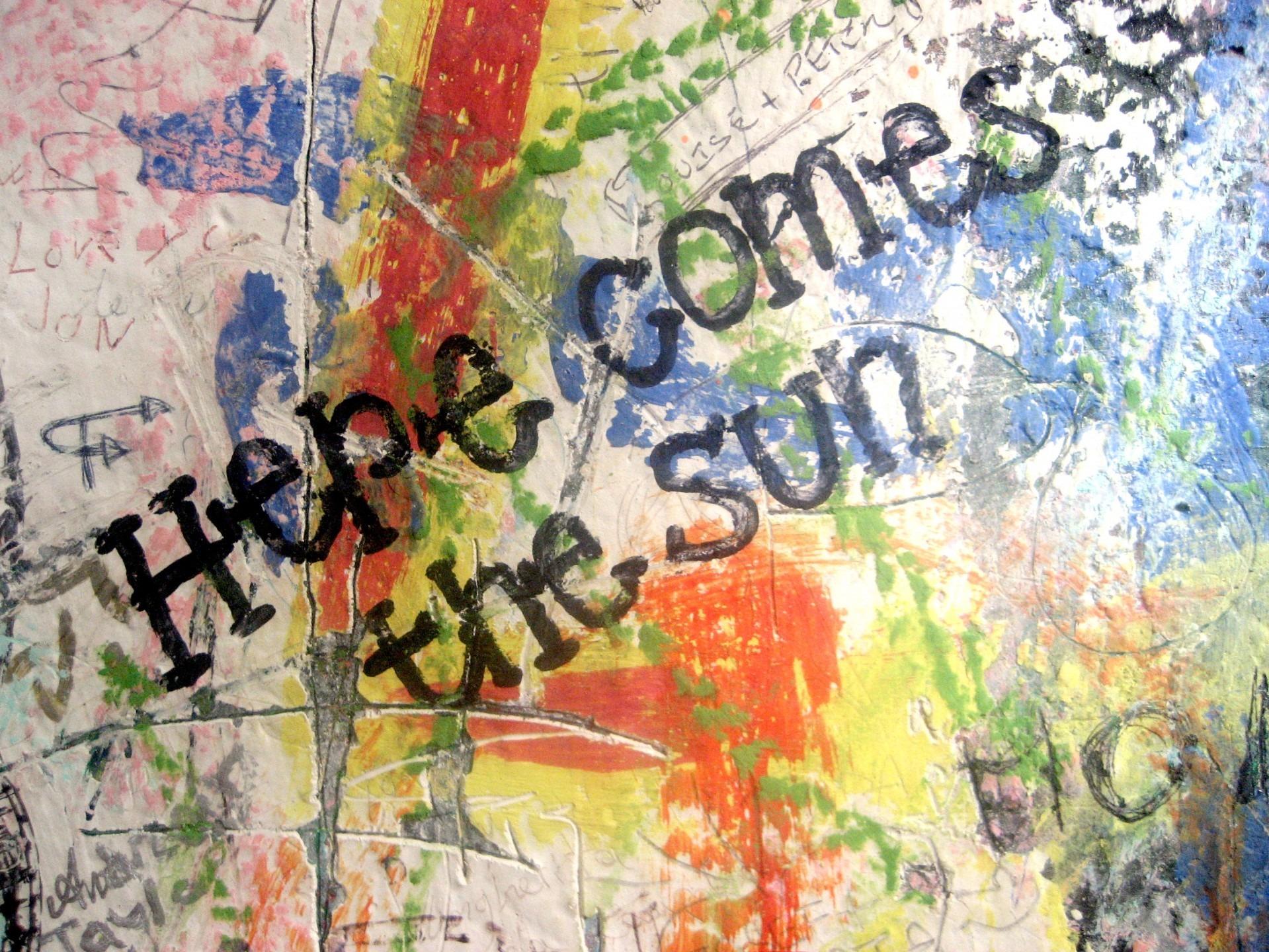 Sun warm summer spring graffiti painting art mural lyrics modern art