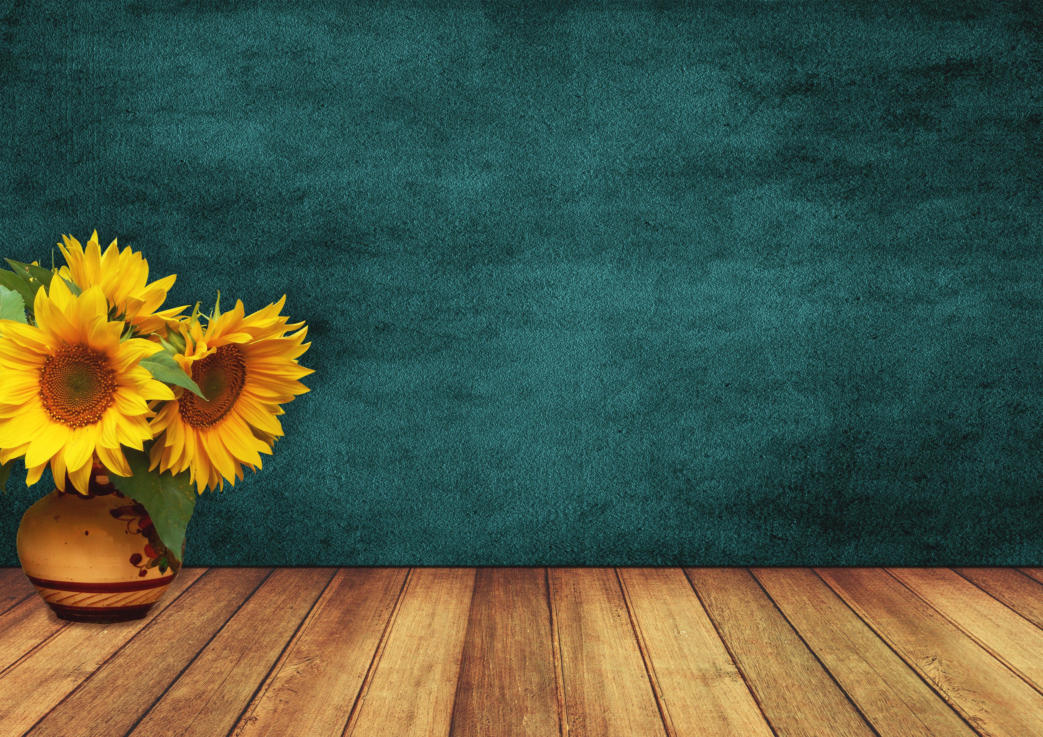 Free Images Sunflowers Room Wood Vase Wall Vintage