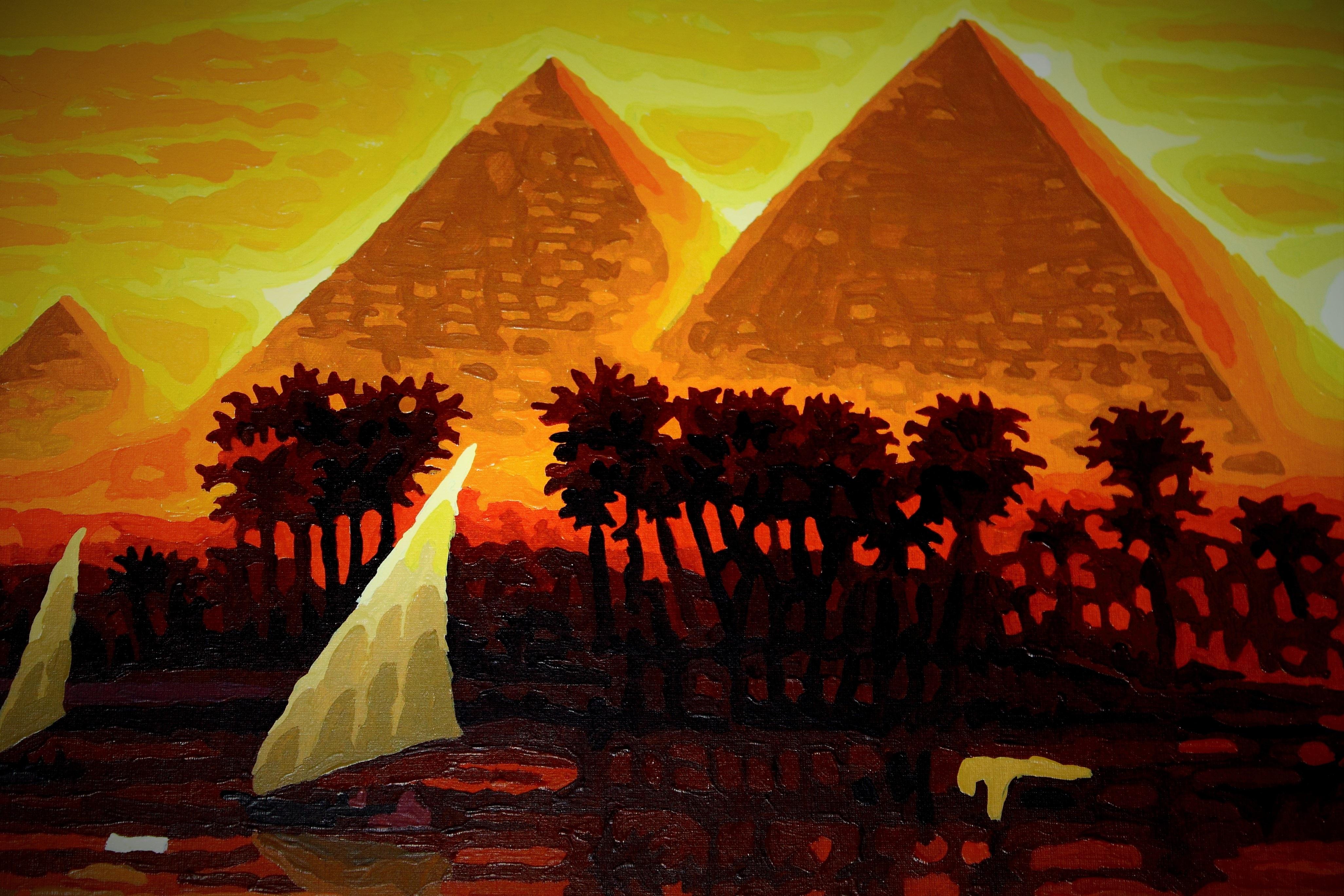 Fotoğraf Güneş ışığı çiçek Anıt Boyama Mısır Arka Fon çizim