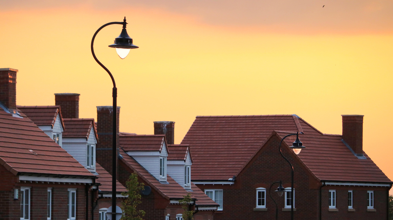rooftop lighting. Sunset House Morning Town Roof Rooftop Dusk Evening Street Light Lighting Residential Area