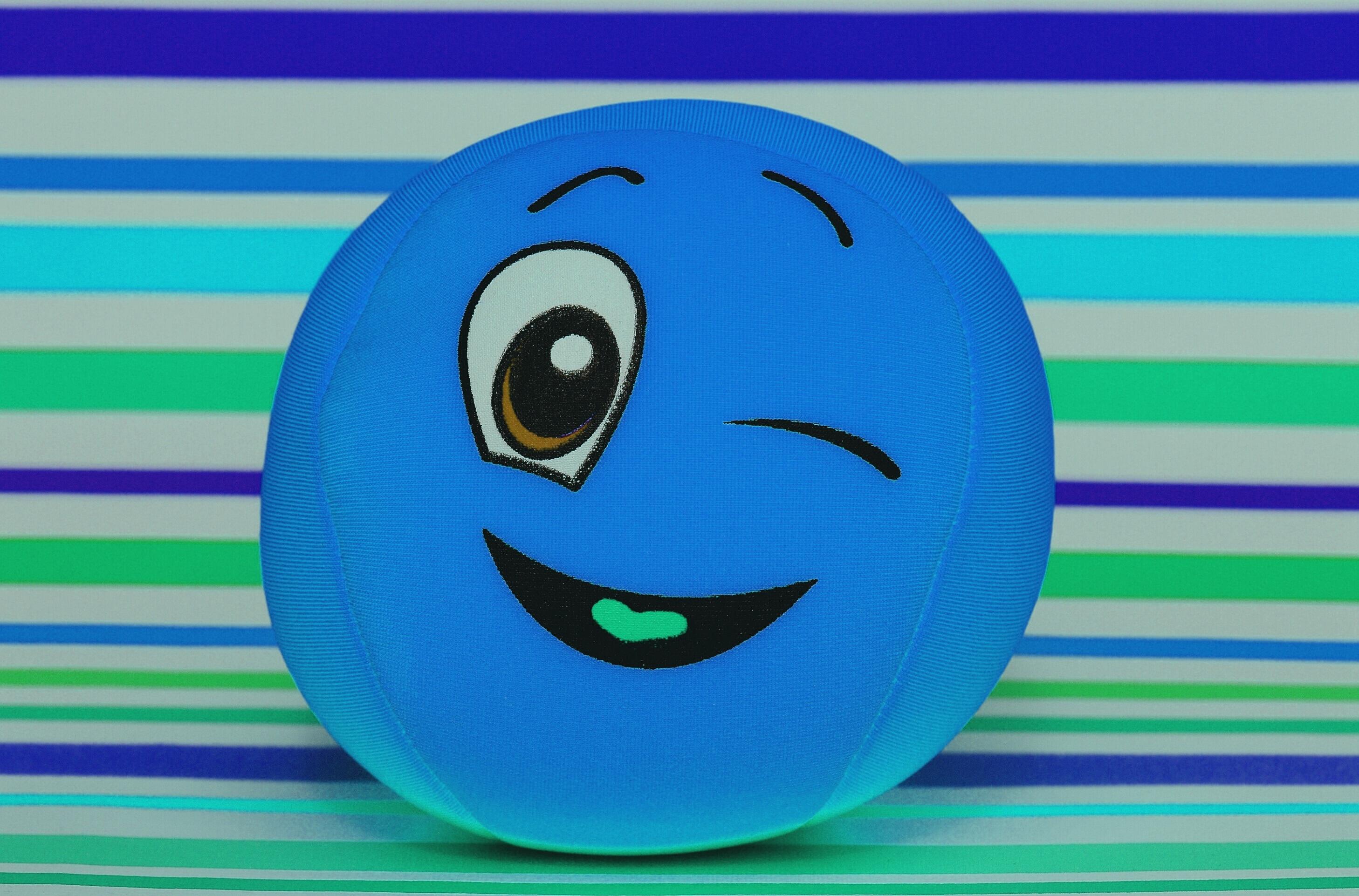 Free Sweet Cute Blue Fabric Face Fun Ball