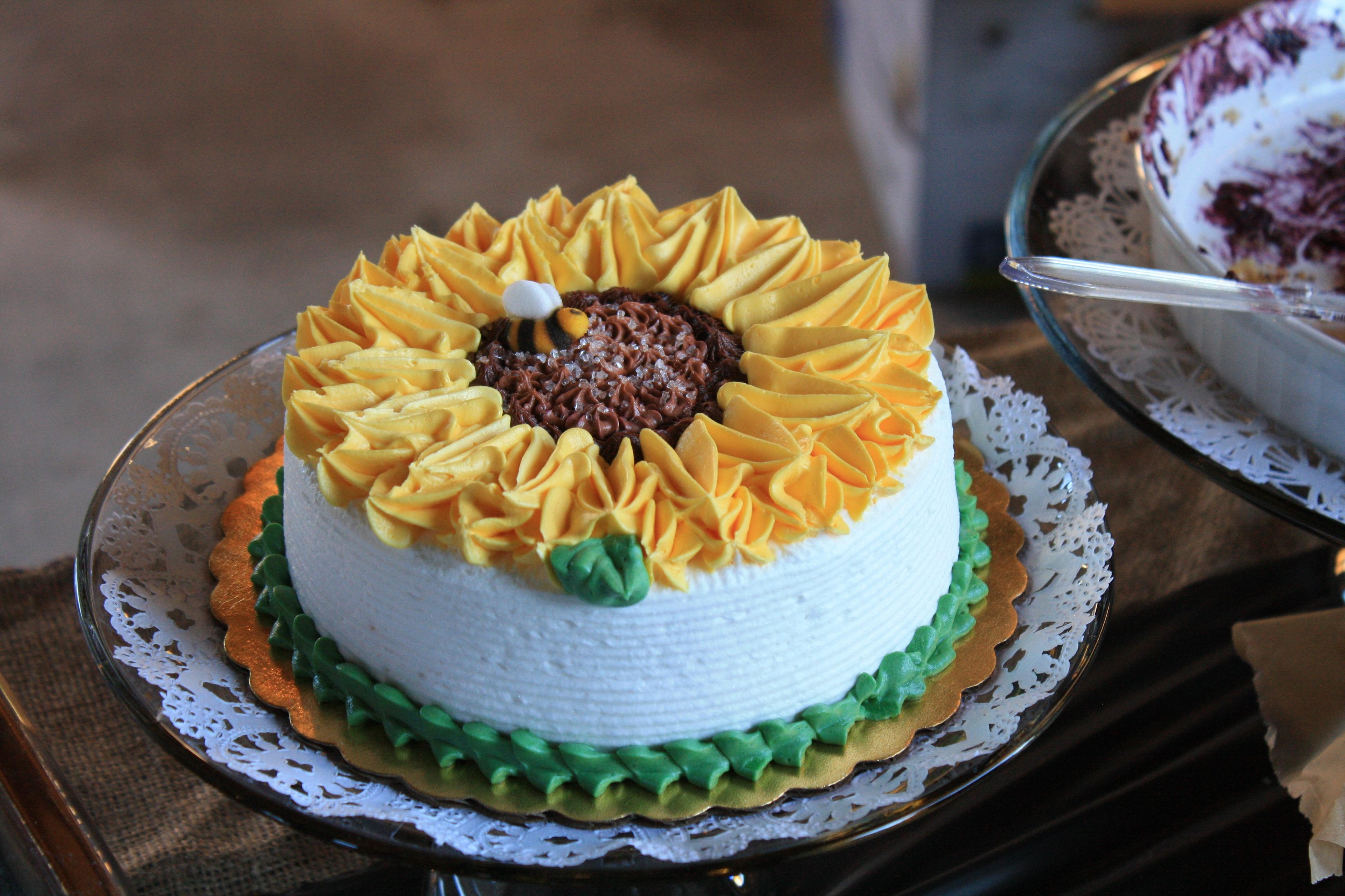 fotos gratis dulce flor comida produce fresco postre cocina delicioso panadera girasol horneado pastel de cumpleaos formacin de hielo